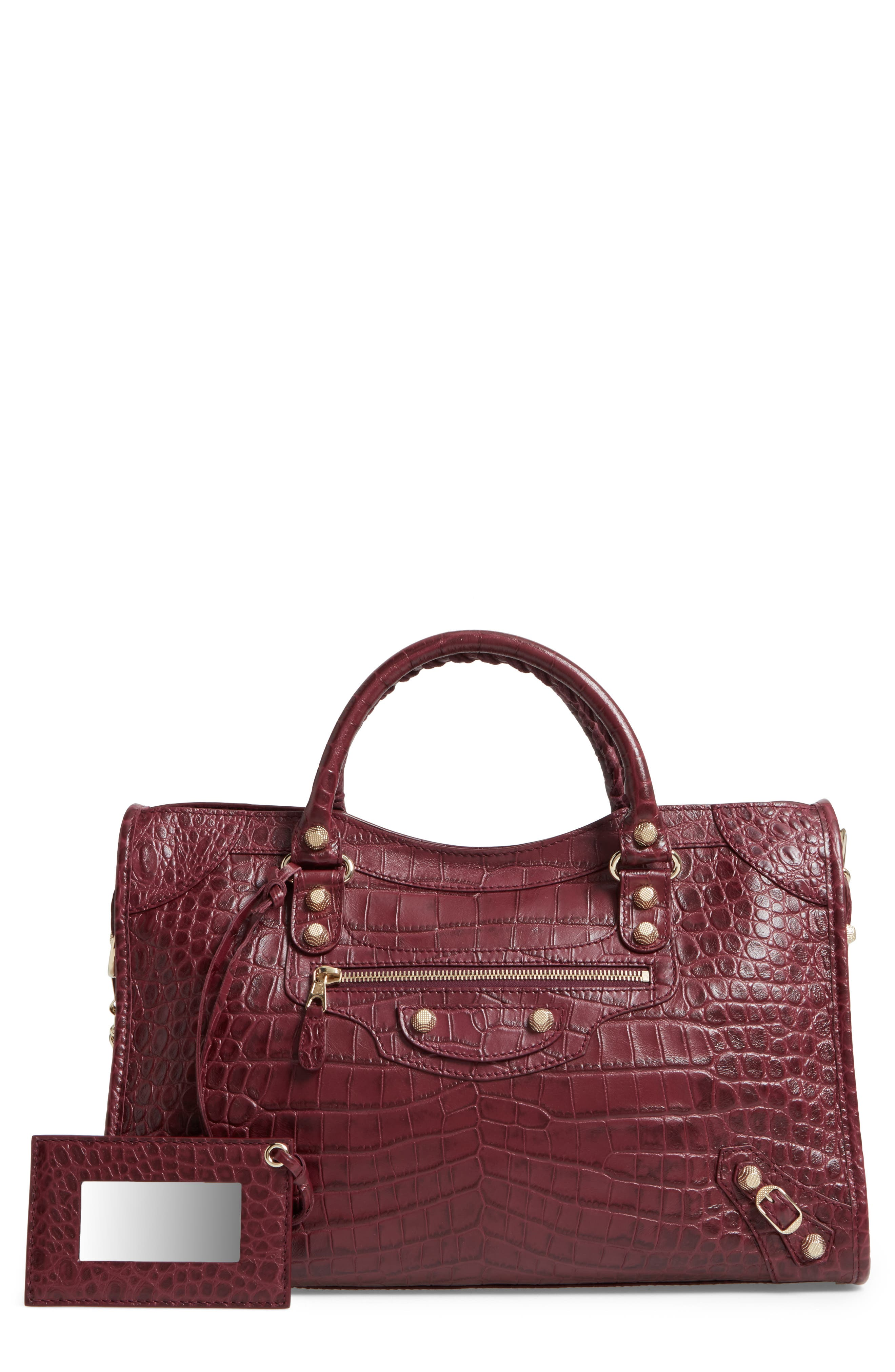 Balenciaga Giant City Croc-Embossed Leather Tote