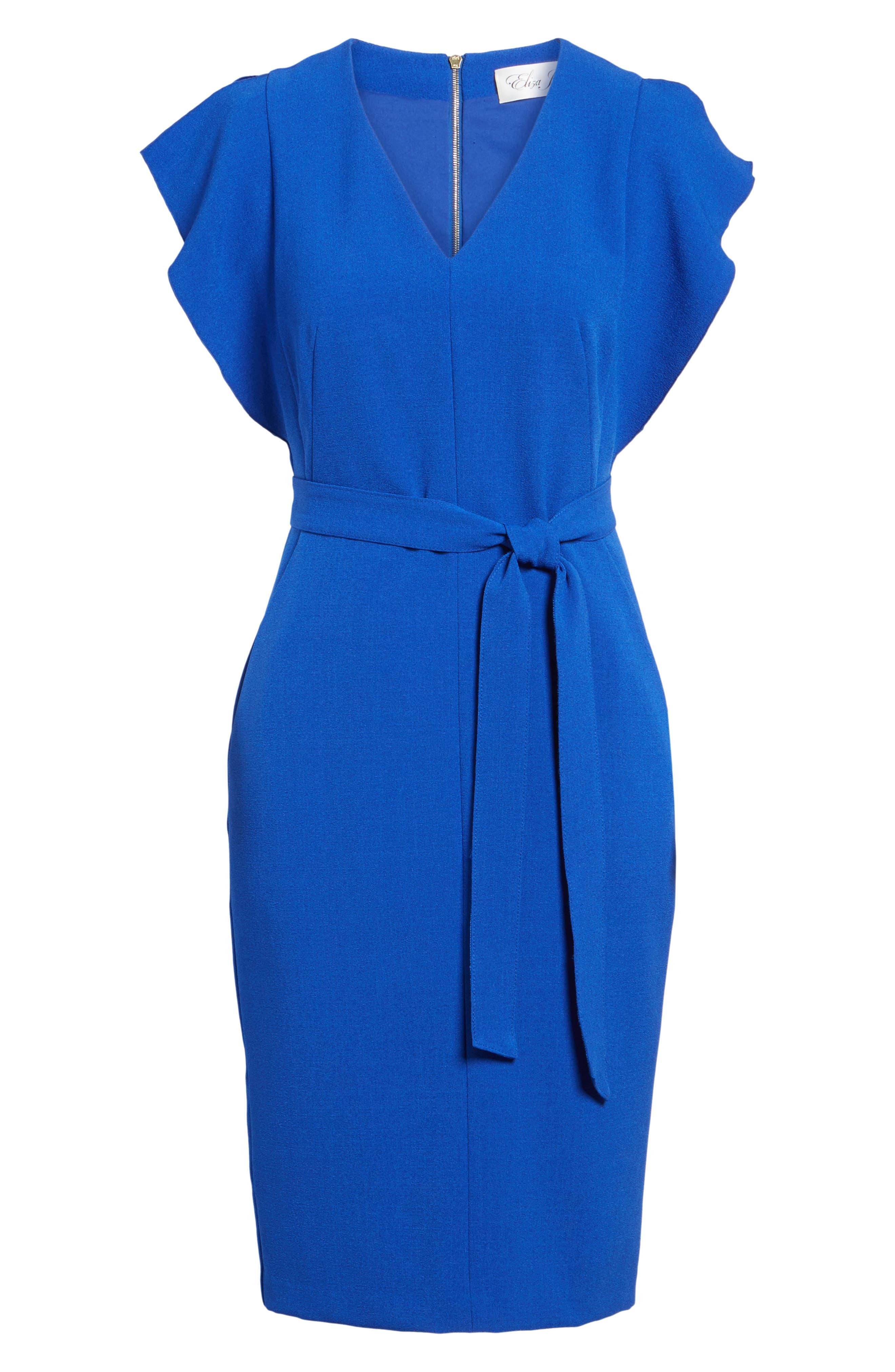 Alternate Image 7  - Eliza J Ruffle Sleeve Sheath Dress