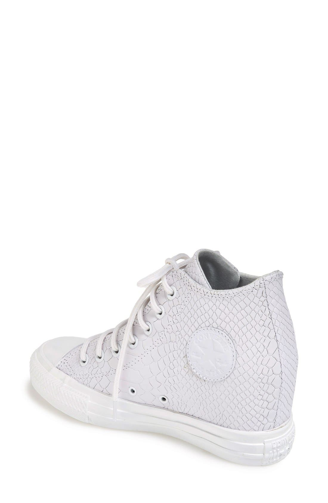 Alternate Image 2  - Converse Chuck Taylor® All Star® 'Embossed Reptile' Wedge Sneaker (Women)