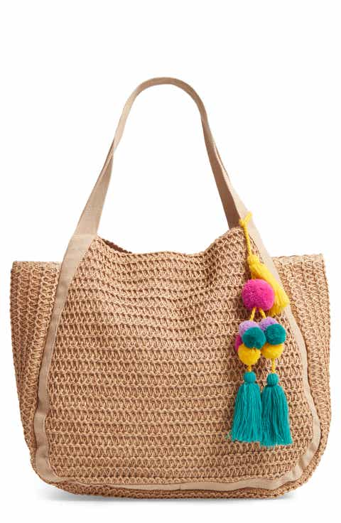 BP. Slouchy Straw Tote
