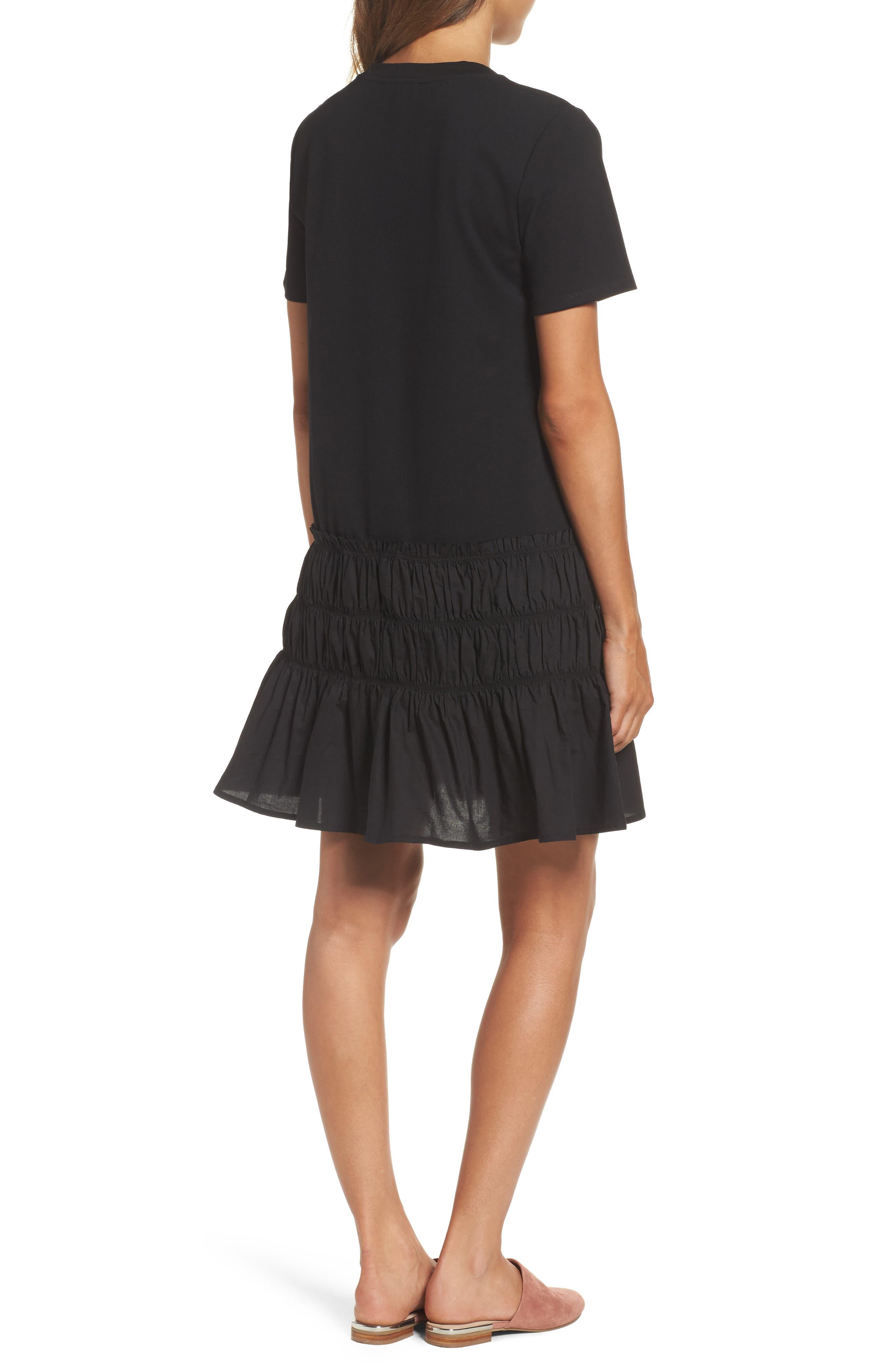 Alternate Image 2  - Chelsea28 Smocked T-Shirt Dress