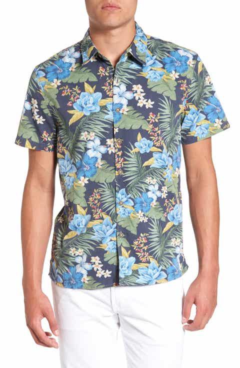 Lucky Brand Aloha Floral Print Woven Shirt