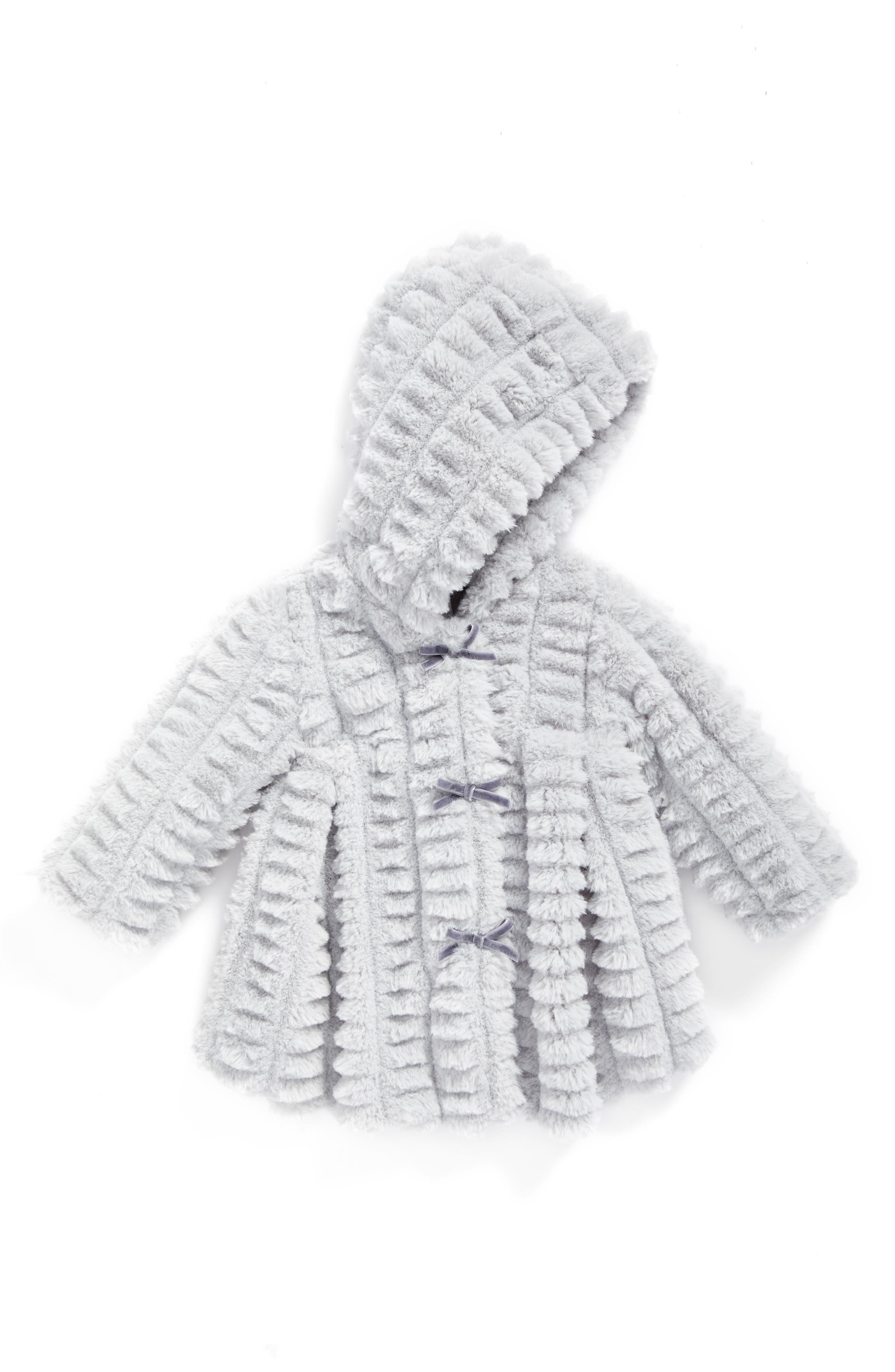 Widgeon Hooded Faux Fur Coat (Baby Girls)