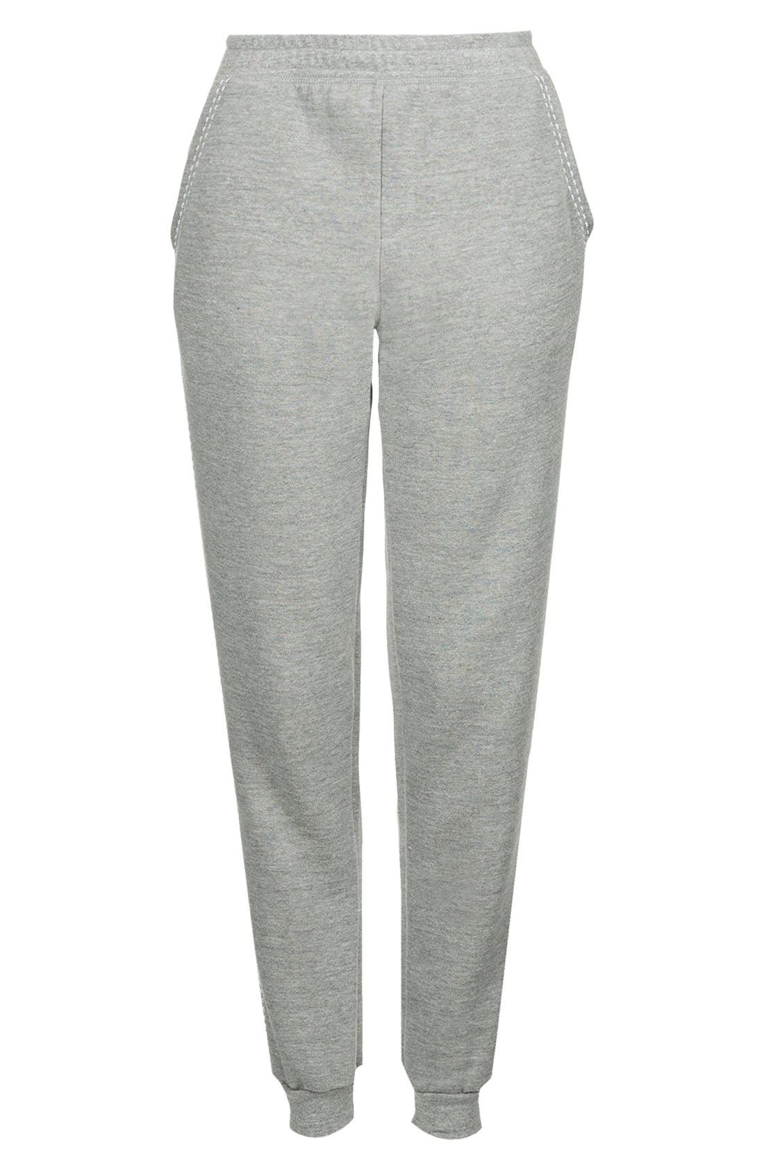 Alternate Image 3  - Topshop Pickstitch Jogger Pants