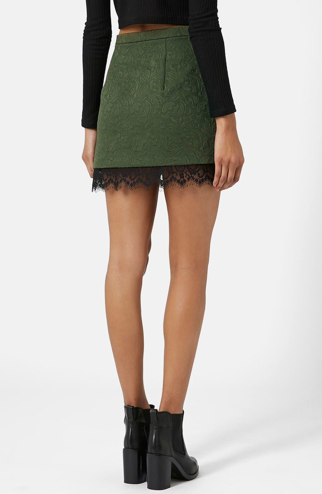 Alternate Image 2  - Topshop Textured Lace Pelmet Skirt