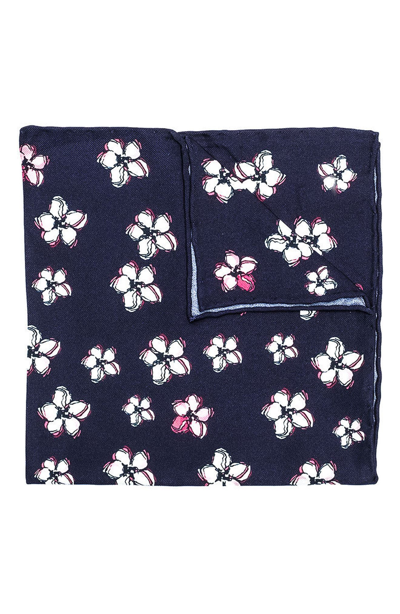 hook + ALBERT Lanai Floral Silk Pocket Square