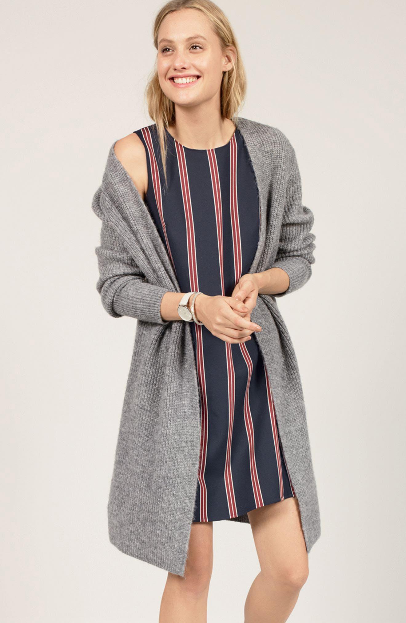 Alternate Image 2  - Halogen® Flounce Back Shift Dress (Regular & Petite)