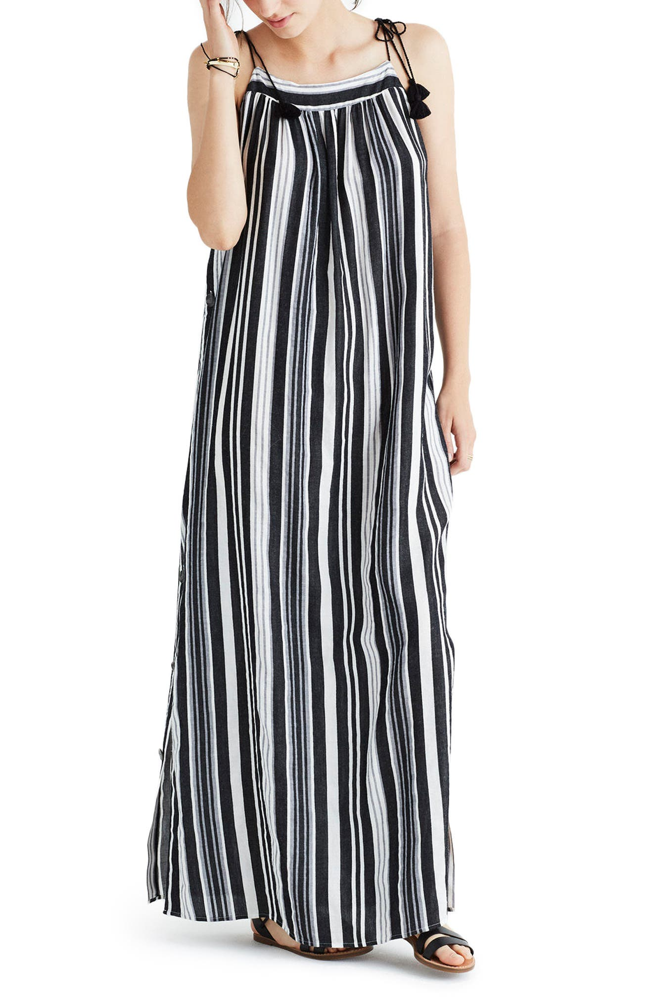 Madewell Nora Stripe Maxi Dress