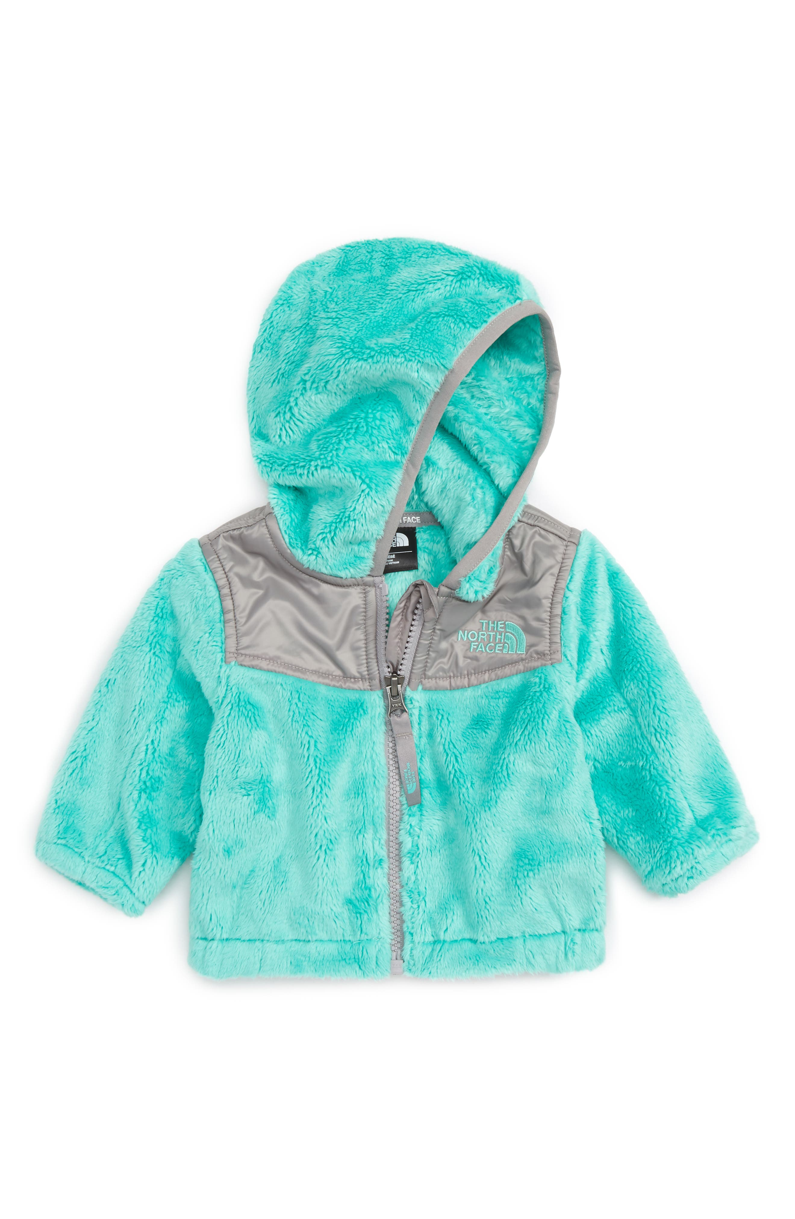 The North Face 'Oso' Fleece Hooded Jacket (Baby Girls)