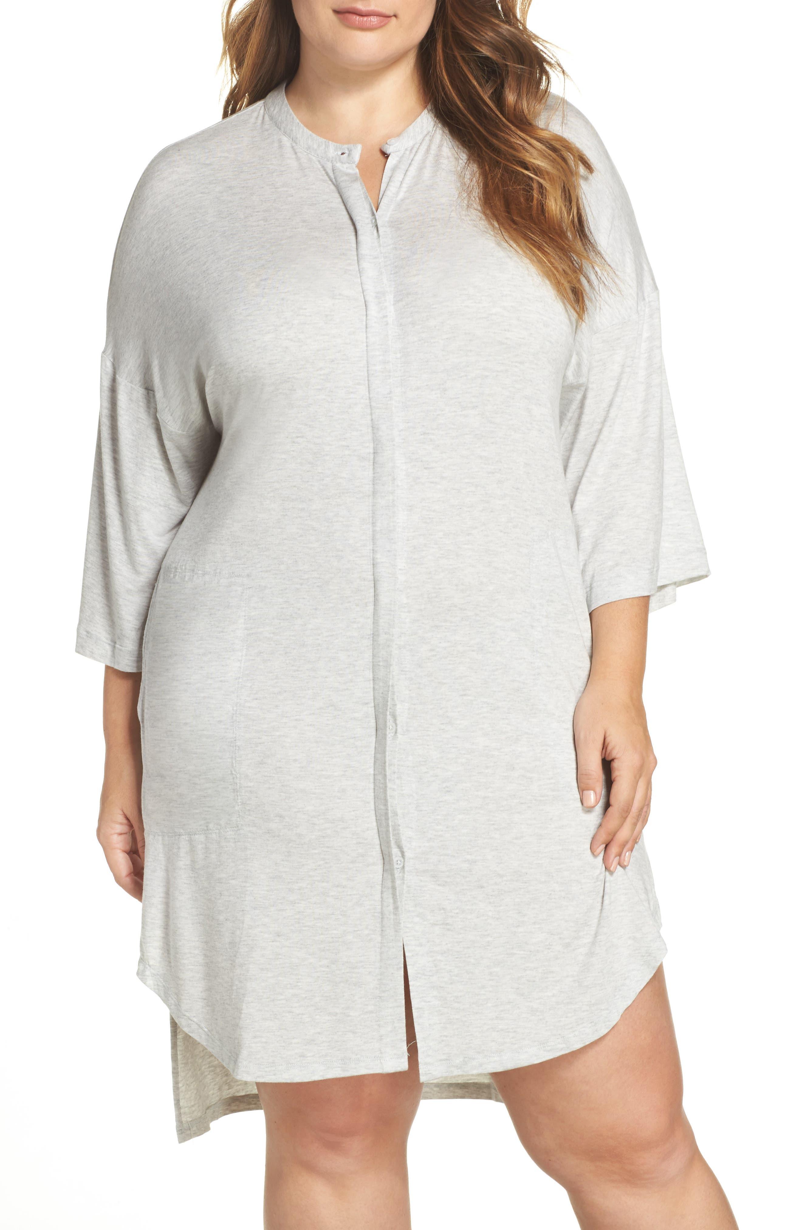 DKNY Knit Sleep Shirt (Plus Size)