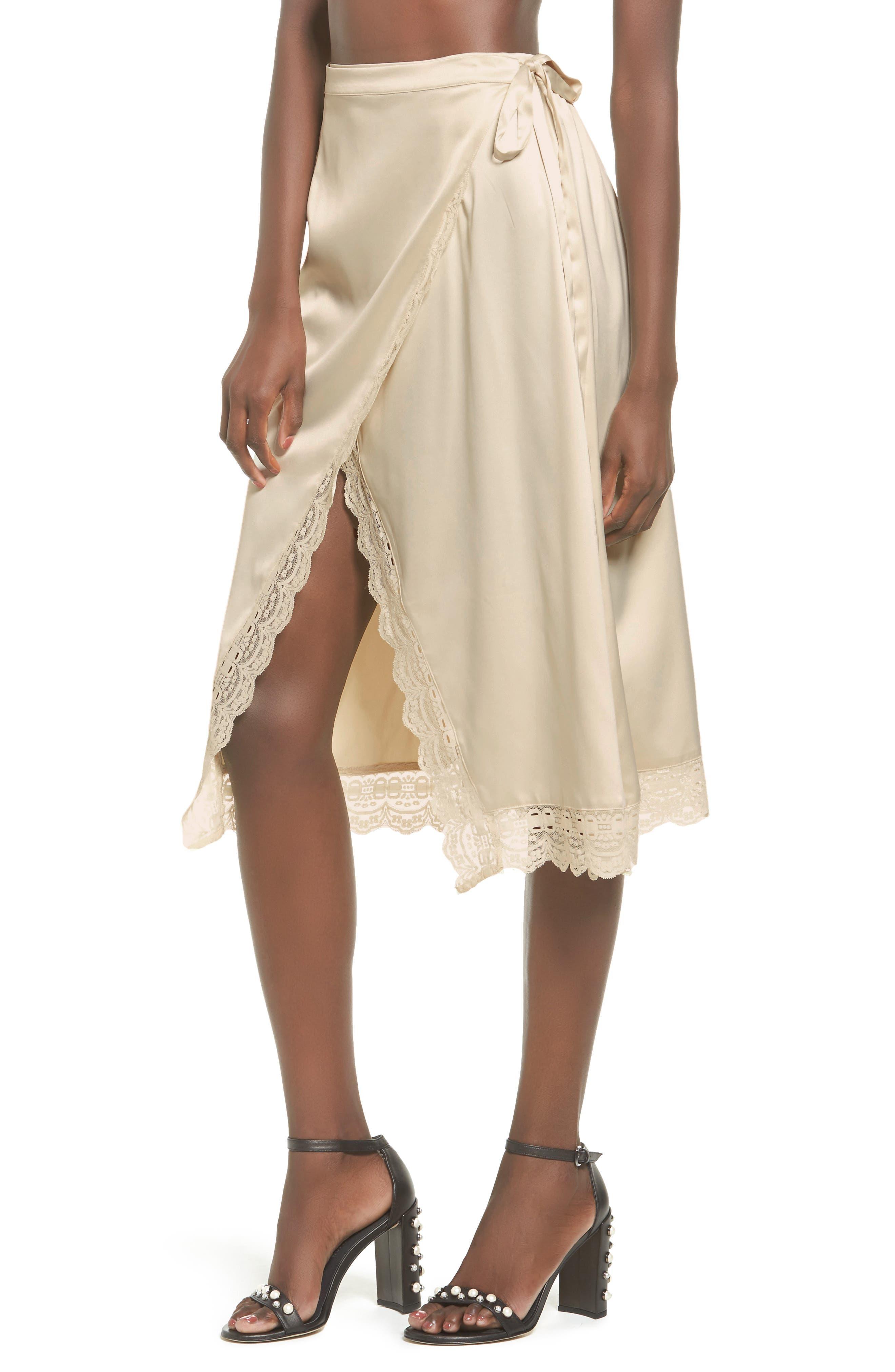 Somedays Lovin Know the Night Satin Wrap Skirt