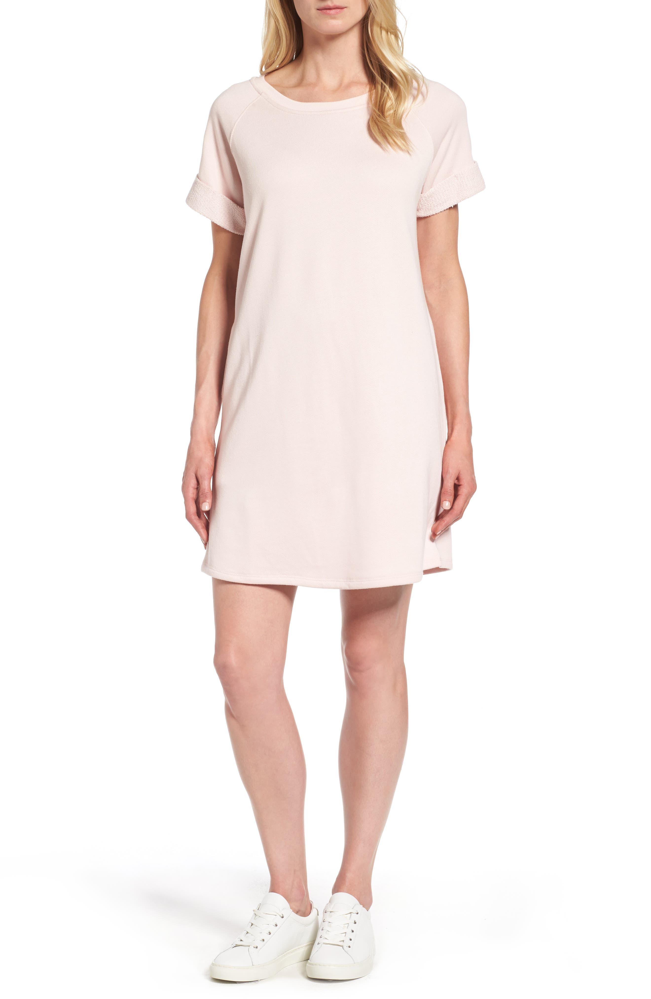 Caslon® French Terry Shift Dress (Regular & Petite)