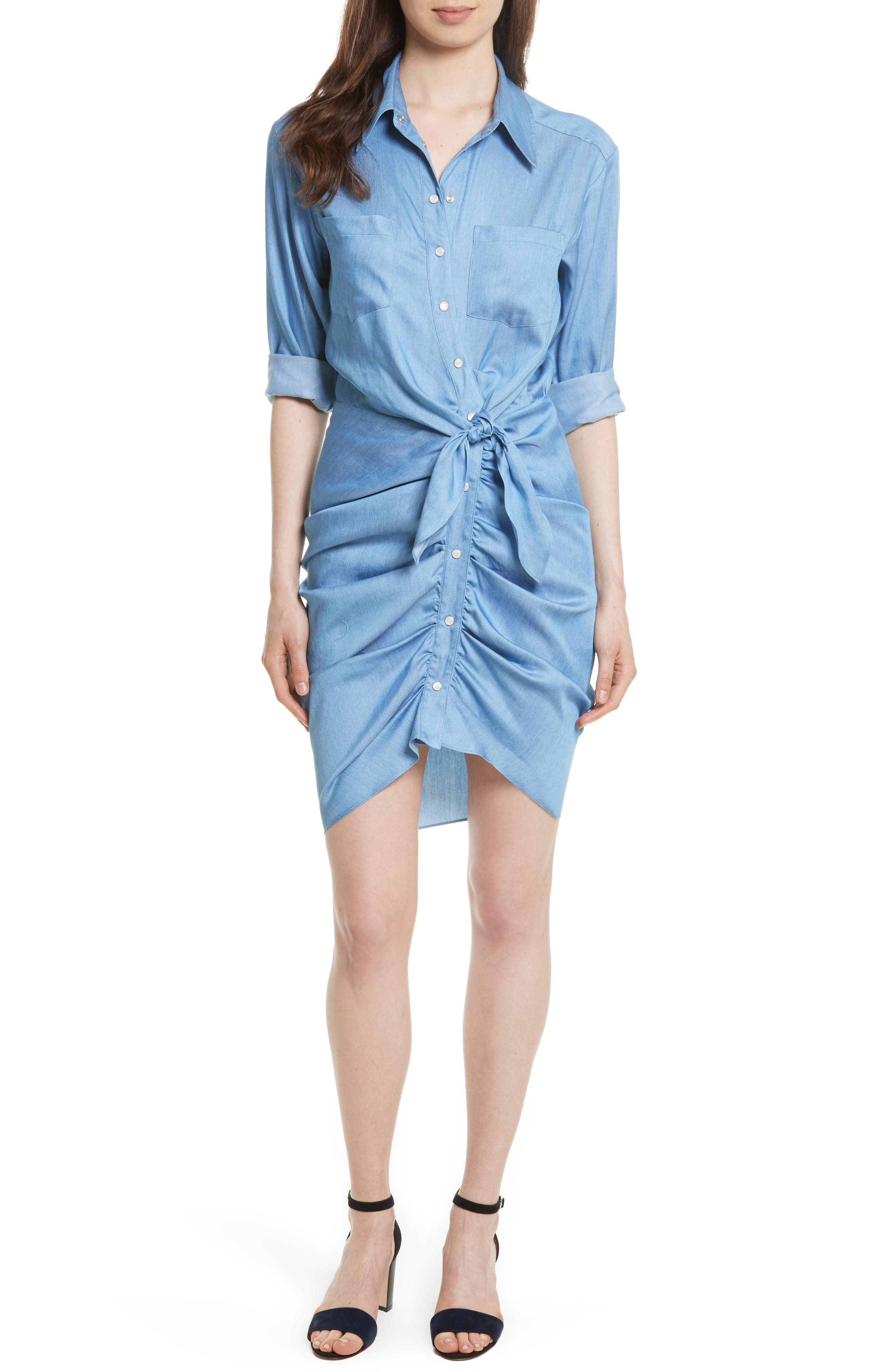 Veronica Beard Sierra Ruched Shirtdress