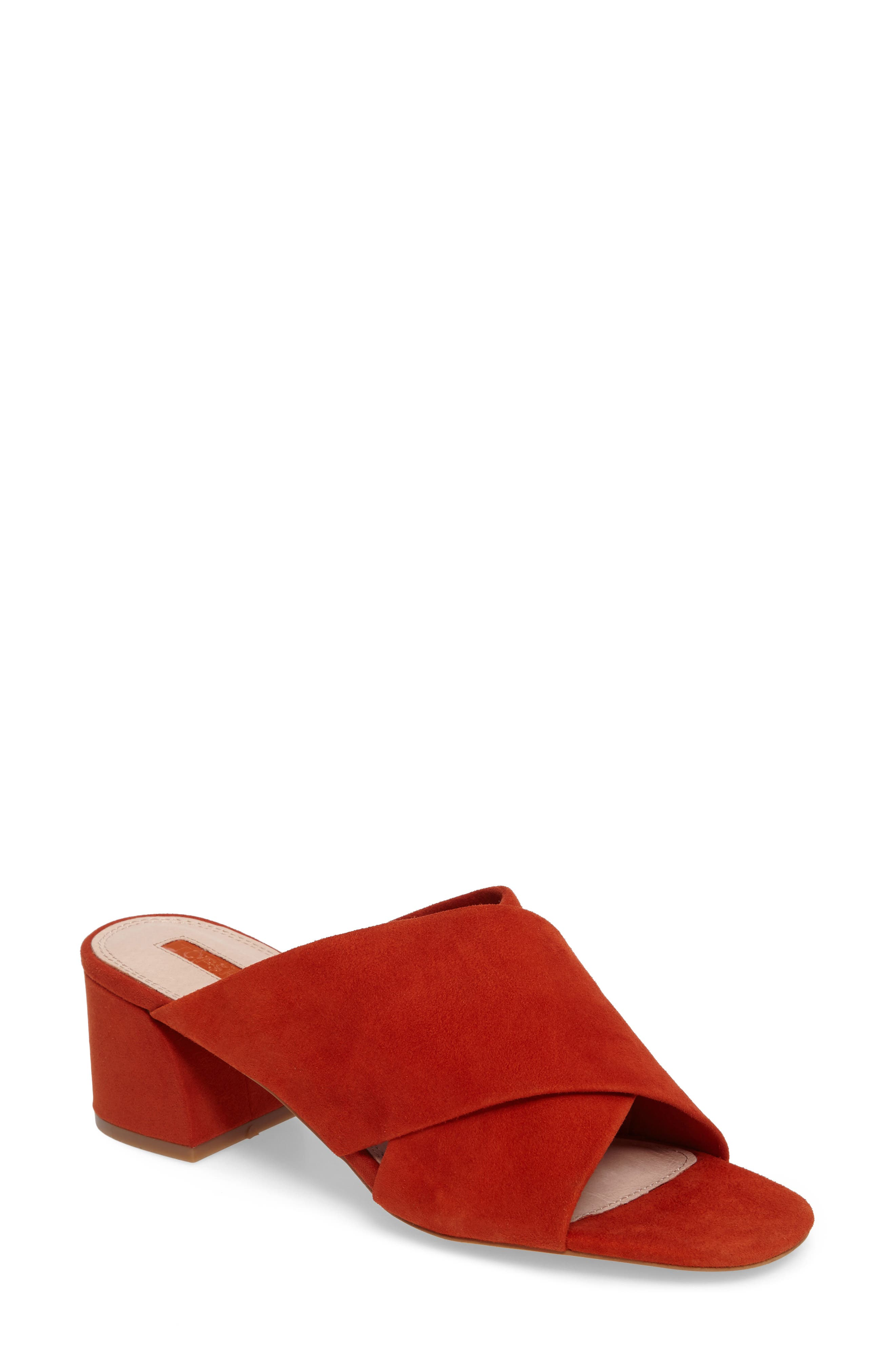 Topshop Norti Cross Strap Slide Sandal (Women)