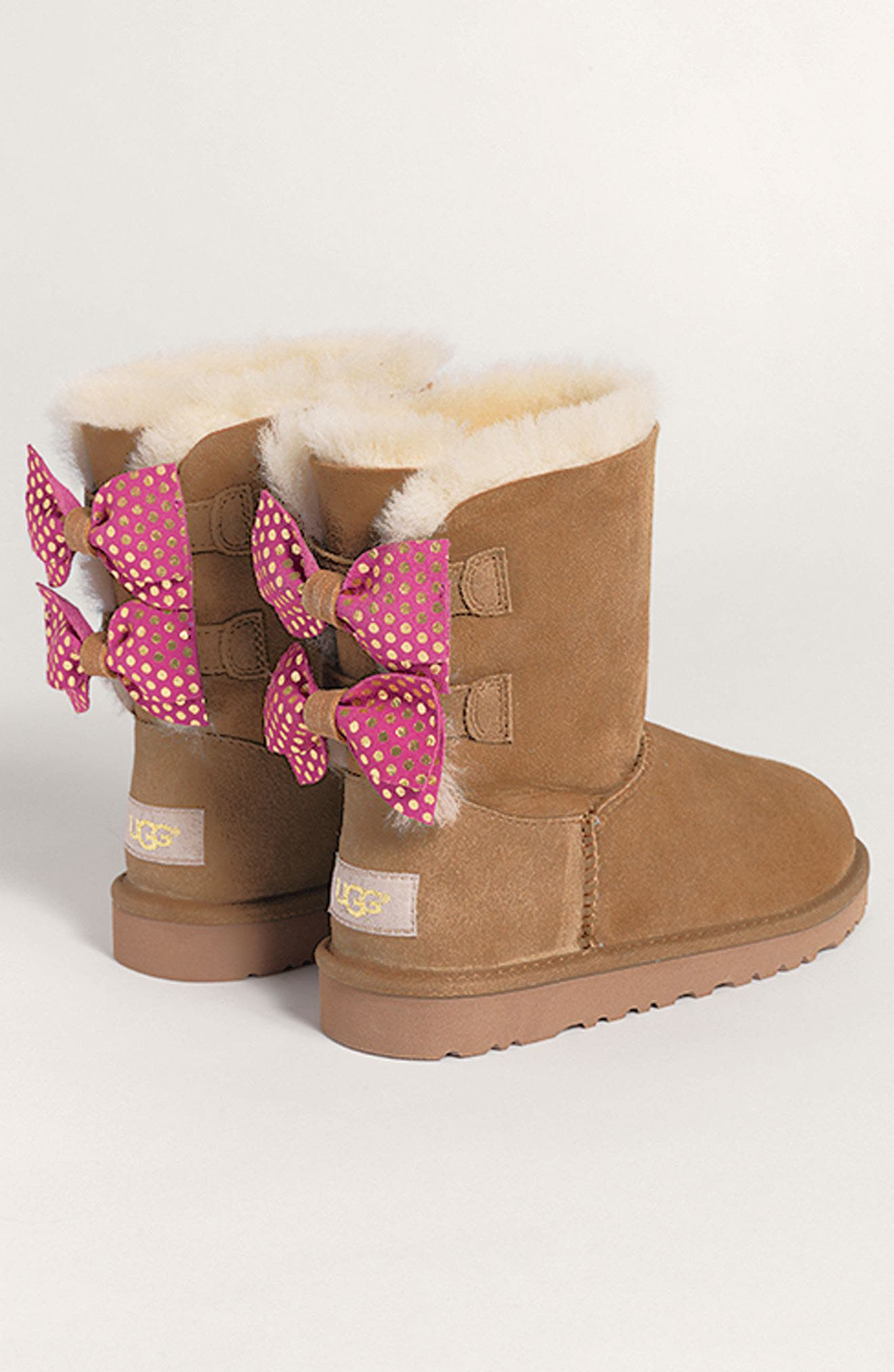 Alternate Image 7  - UGG® Meilani Dots Boot with Genuine Shearling (Walker, Toddler, Little Kid & Big Kid)