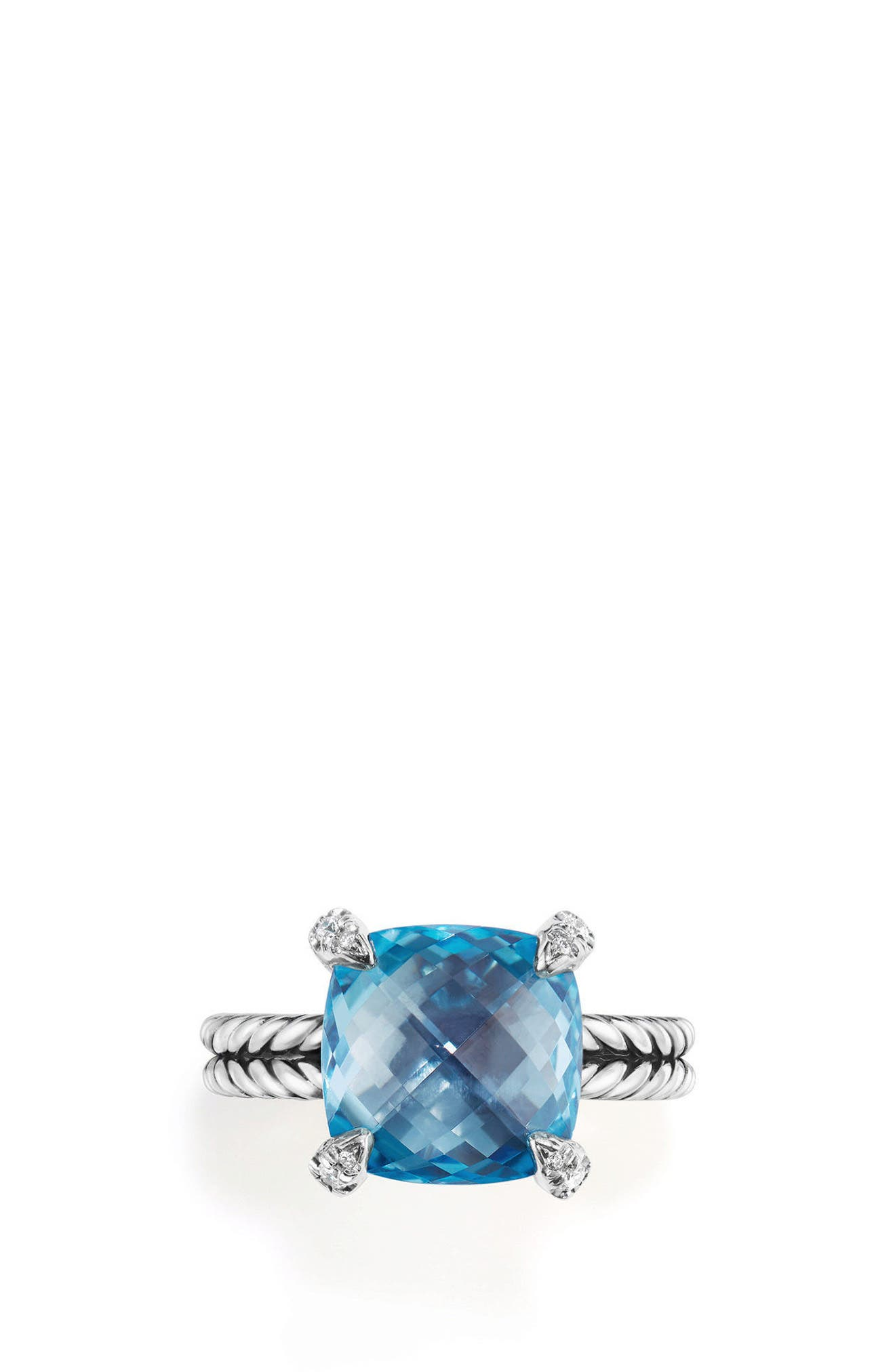David Yurman Châtelaine Ring with Semiprecious Stone & Diamonds