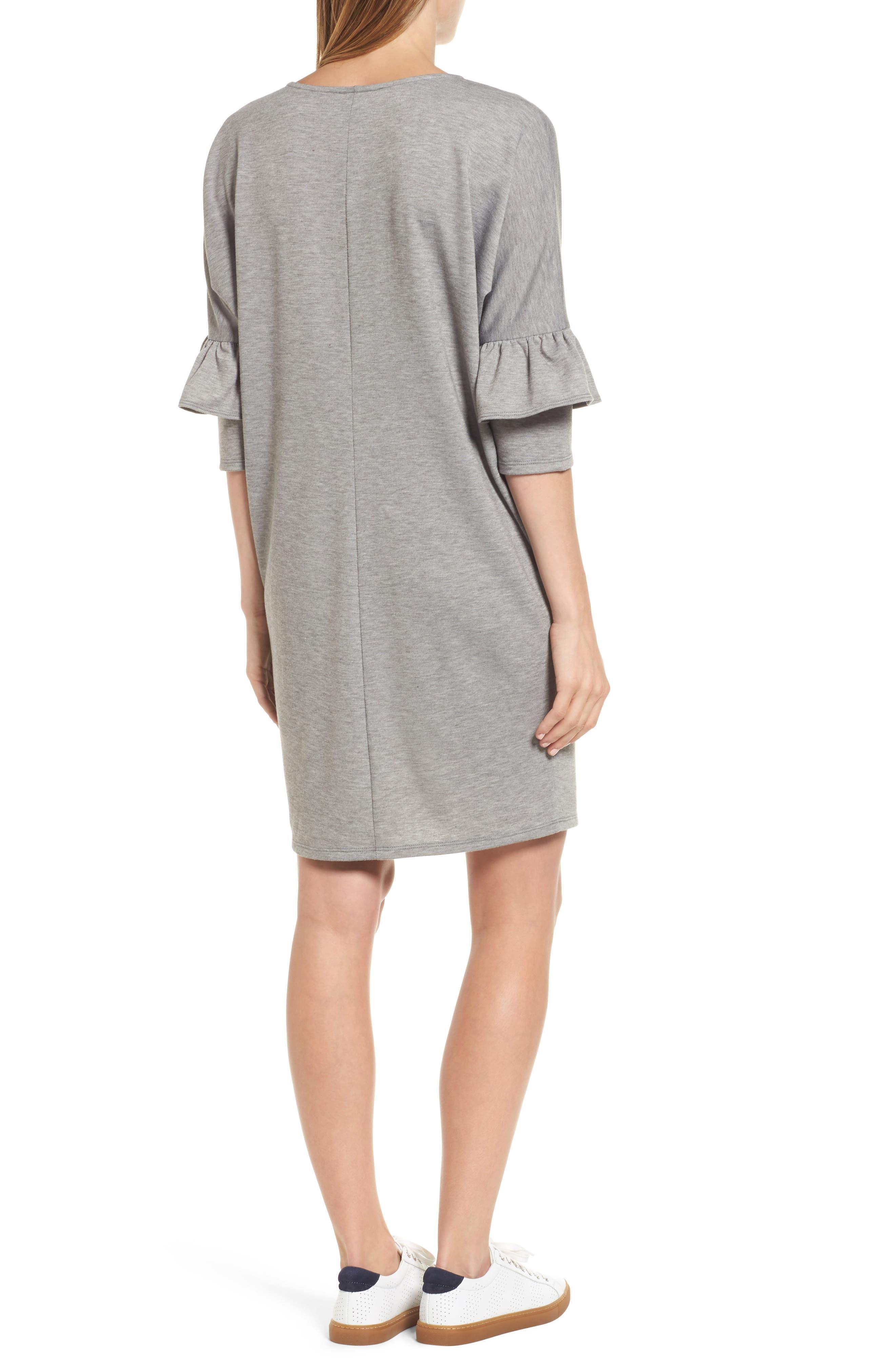 Alternate Image 2  - Bobeau Ruffle Sleeve Tunic Dress (Regular & Petite)