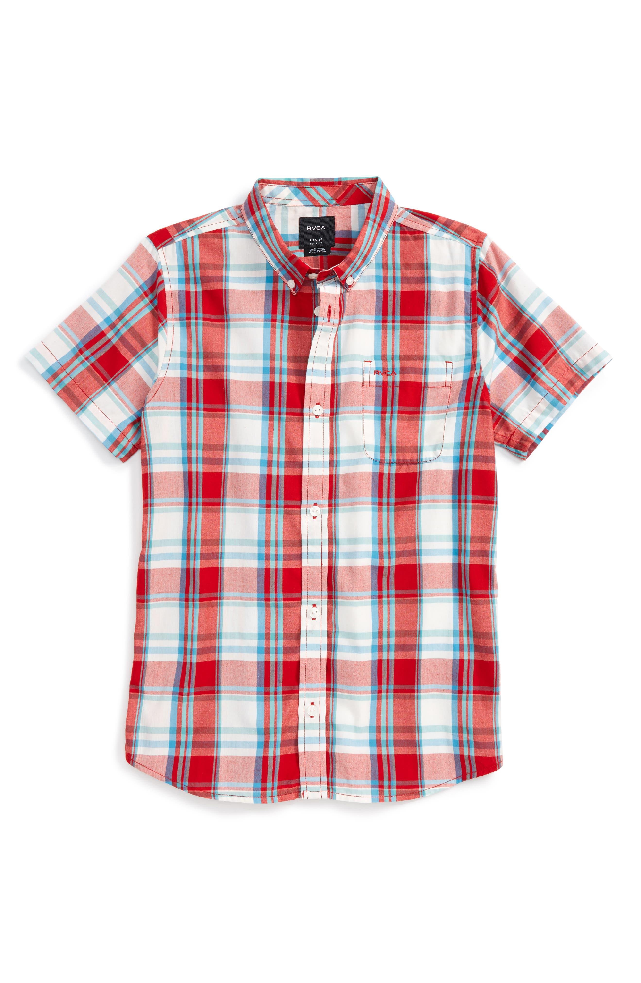 RVCA Stanek Plaid Shirt (Big Boys)