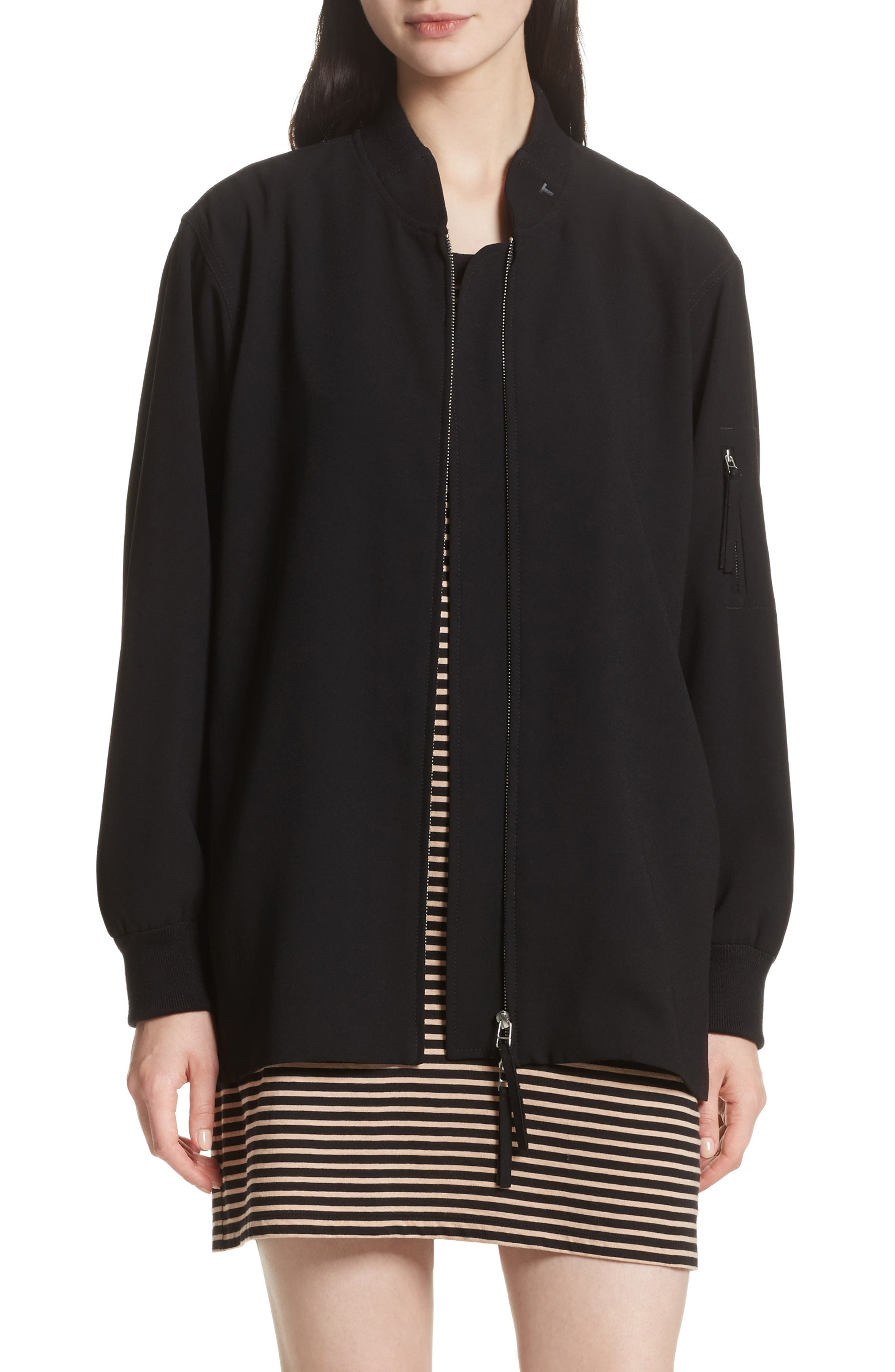 T by Alexander Wang Crepe Bomber Jacket
