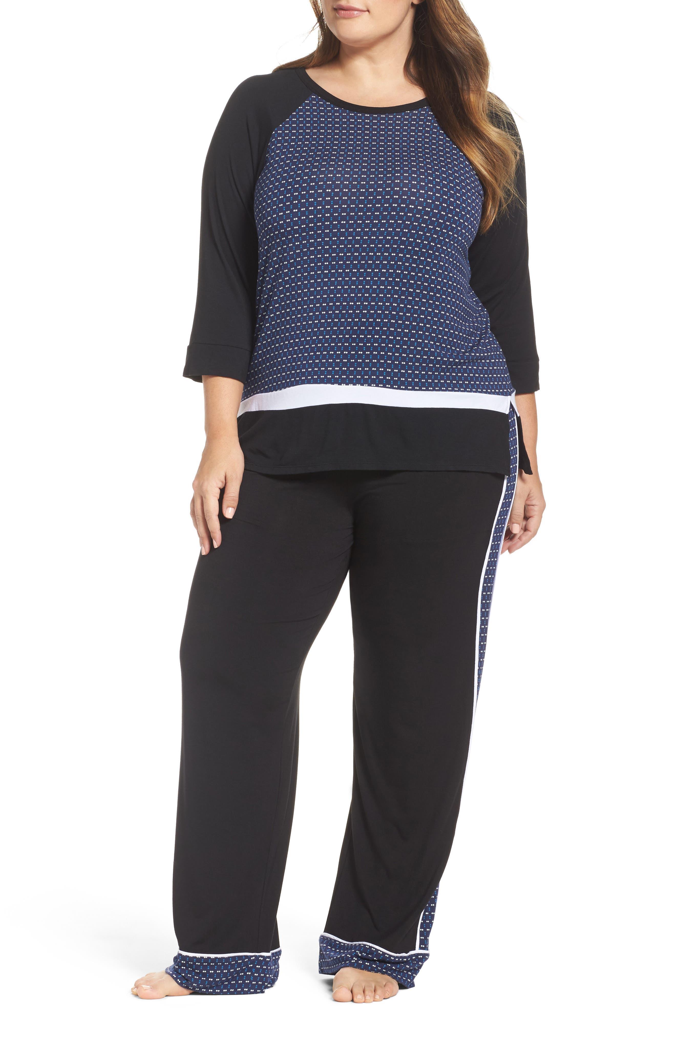 DKNY Sleep Shirt & Pajama Pants (Plus Size)