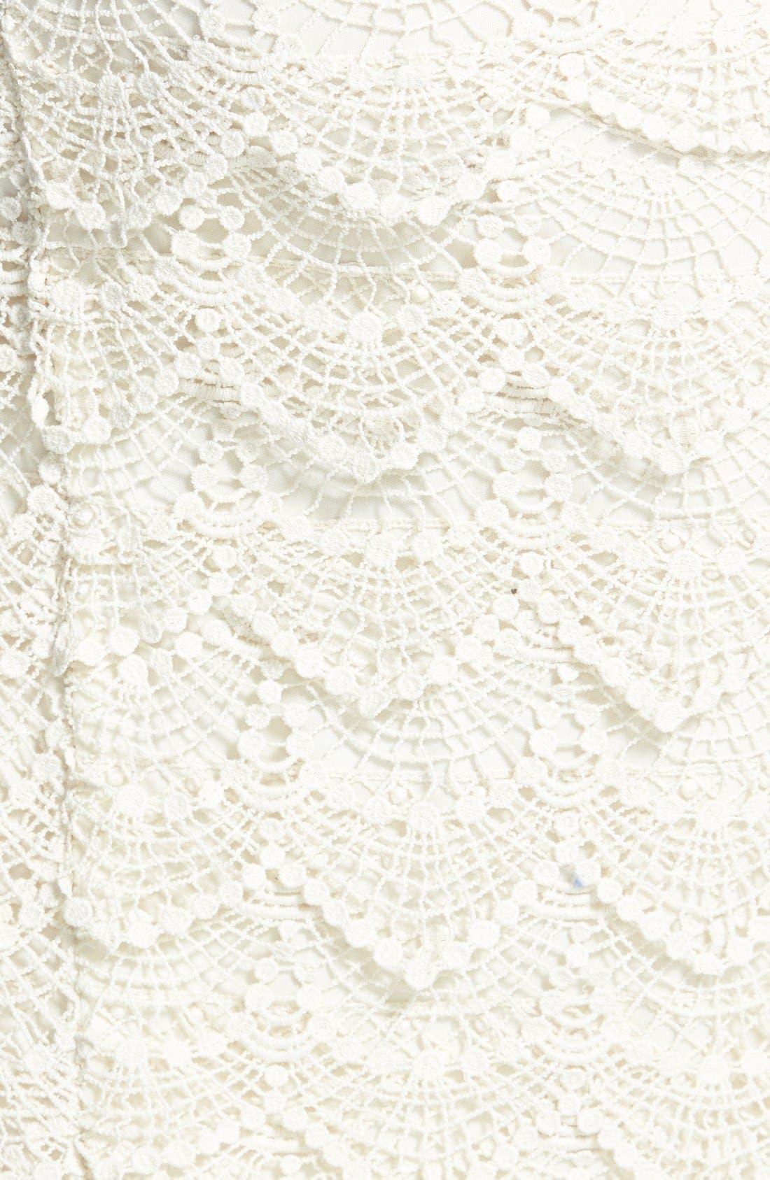 Alternate Image 3  - Jolt Crochet Midi Skirt (Juniors)