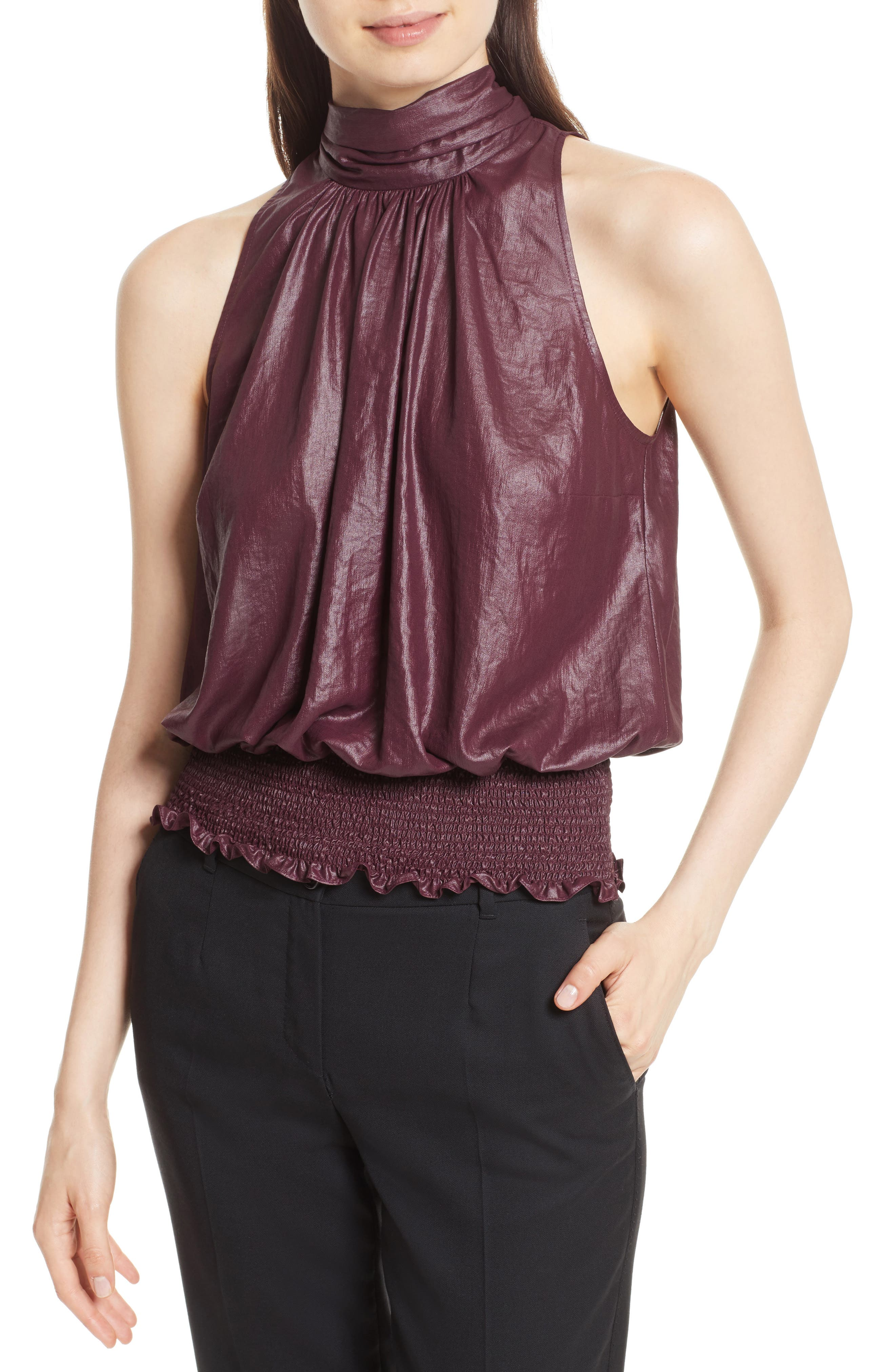 Tracy Reese Smocked Blouson Top