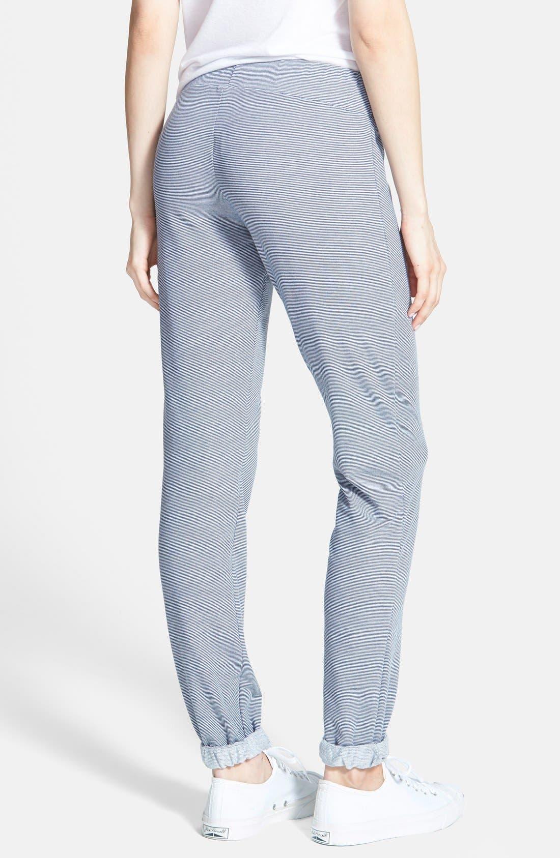 Alternate Image 2  - Runway Girl Stripe Cuffed Sweatpants (Juniors)