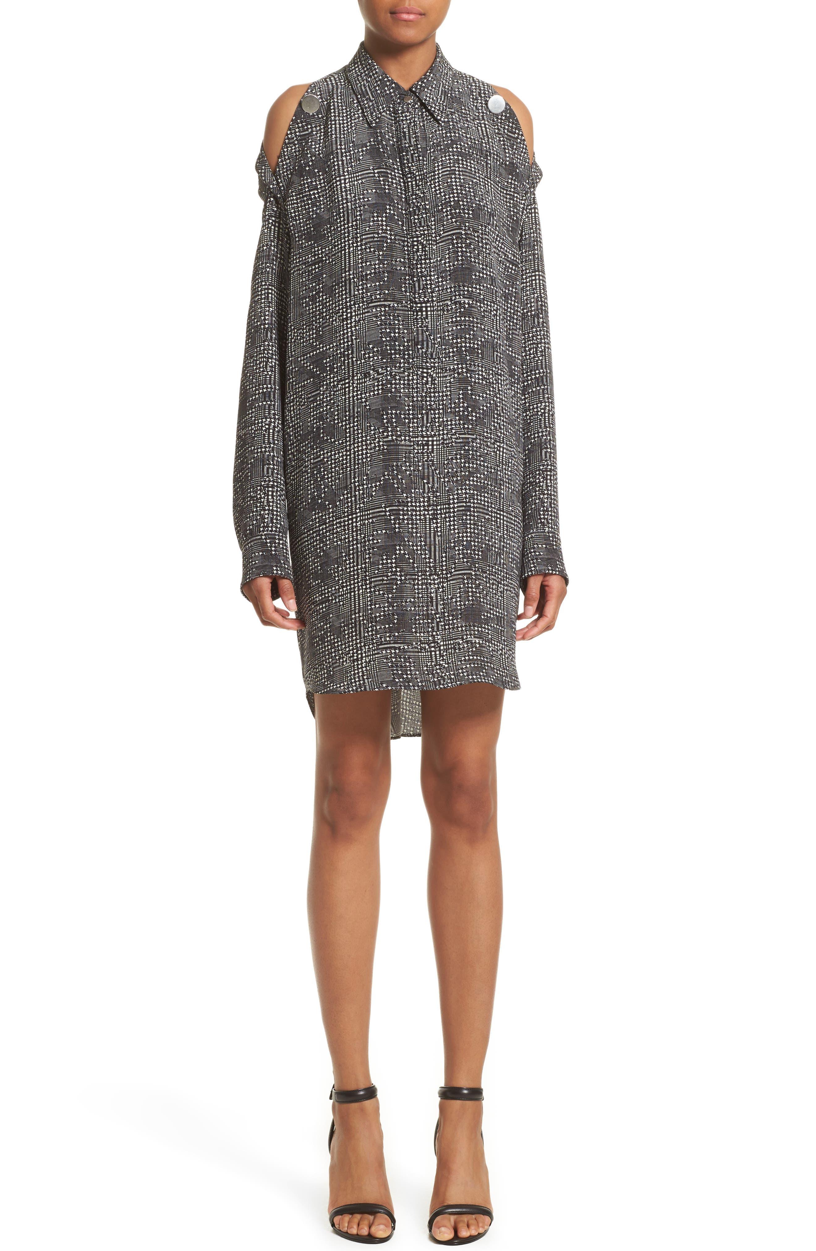 Alexander Wang Silk Cold Shoulder Dress
