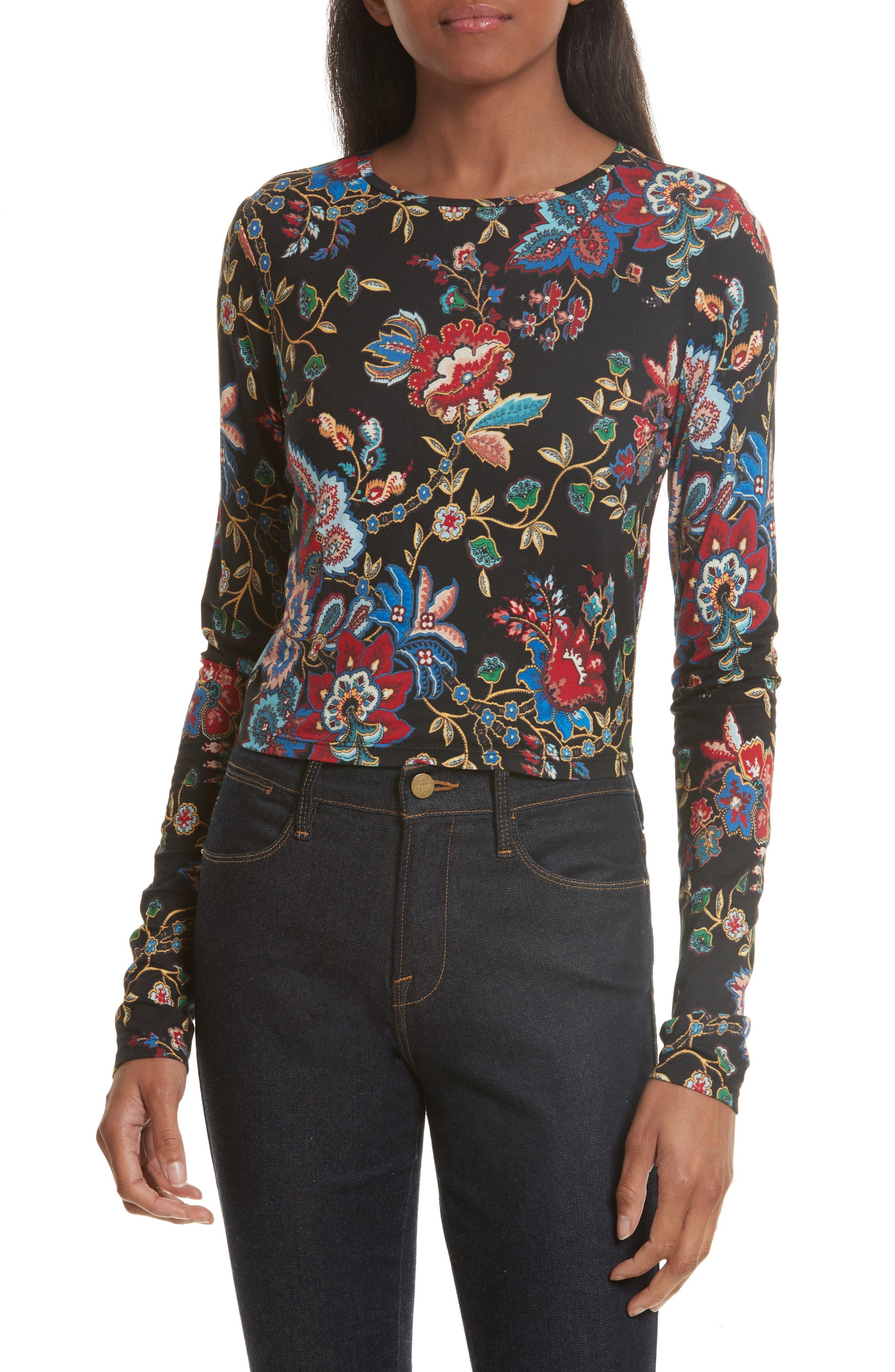 Alice + Olivia Delaina Floral Crop Top