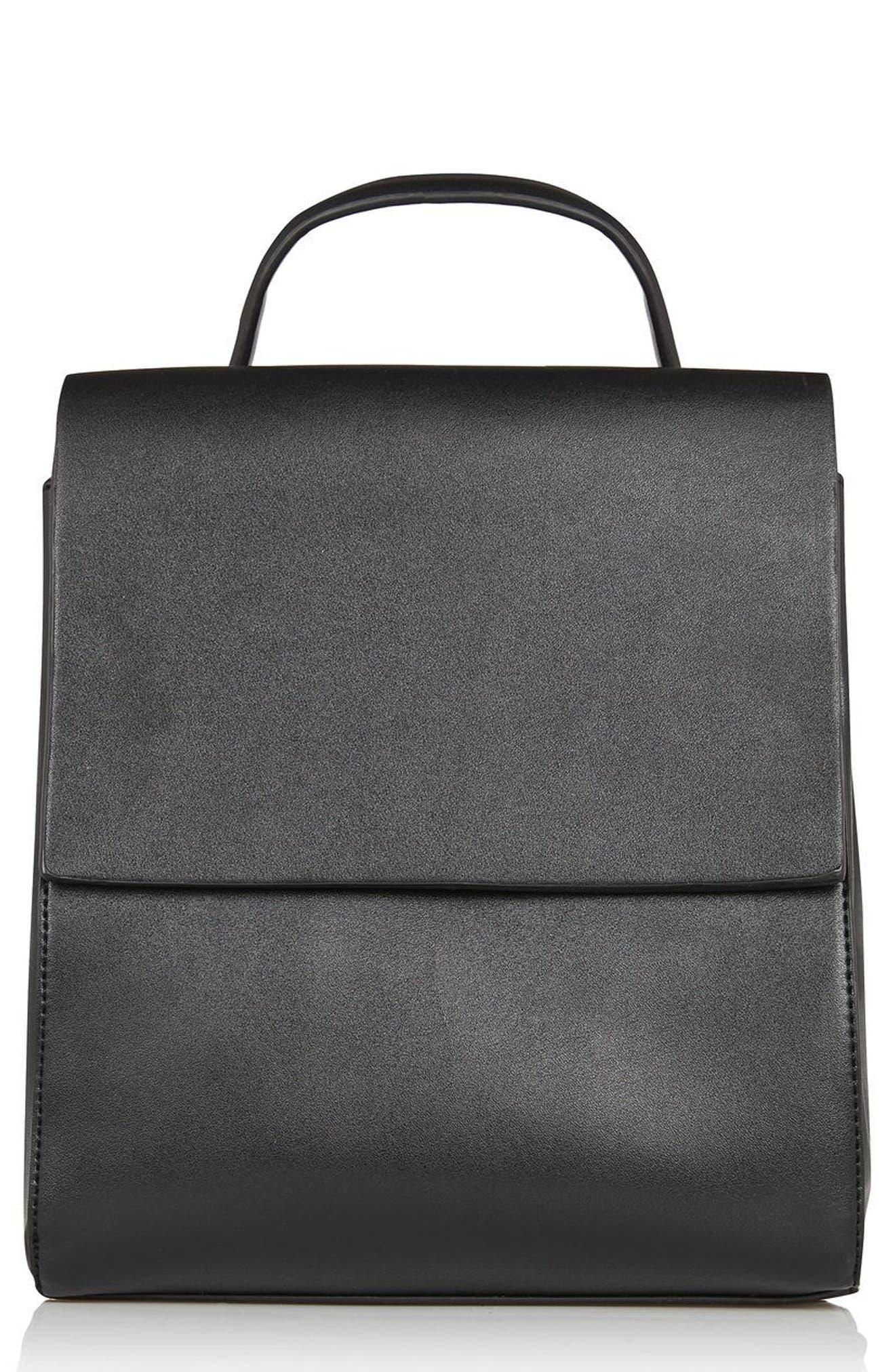 Topshop Mini Scandi Faux Leather Backpack