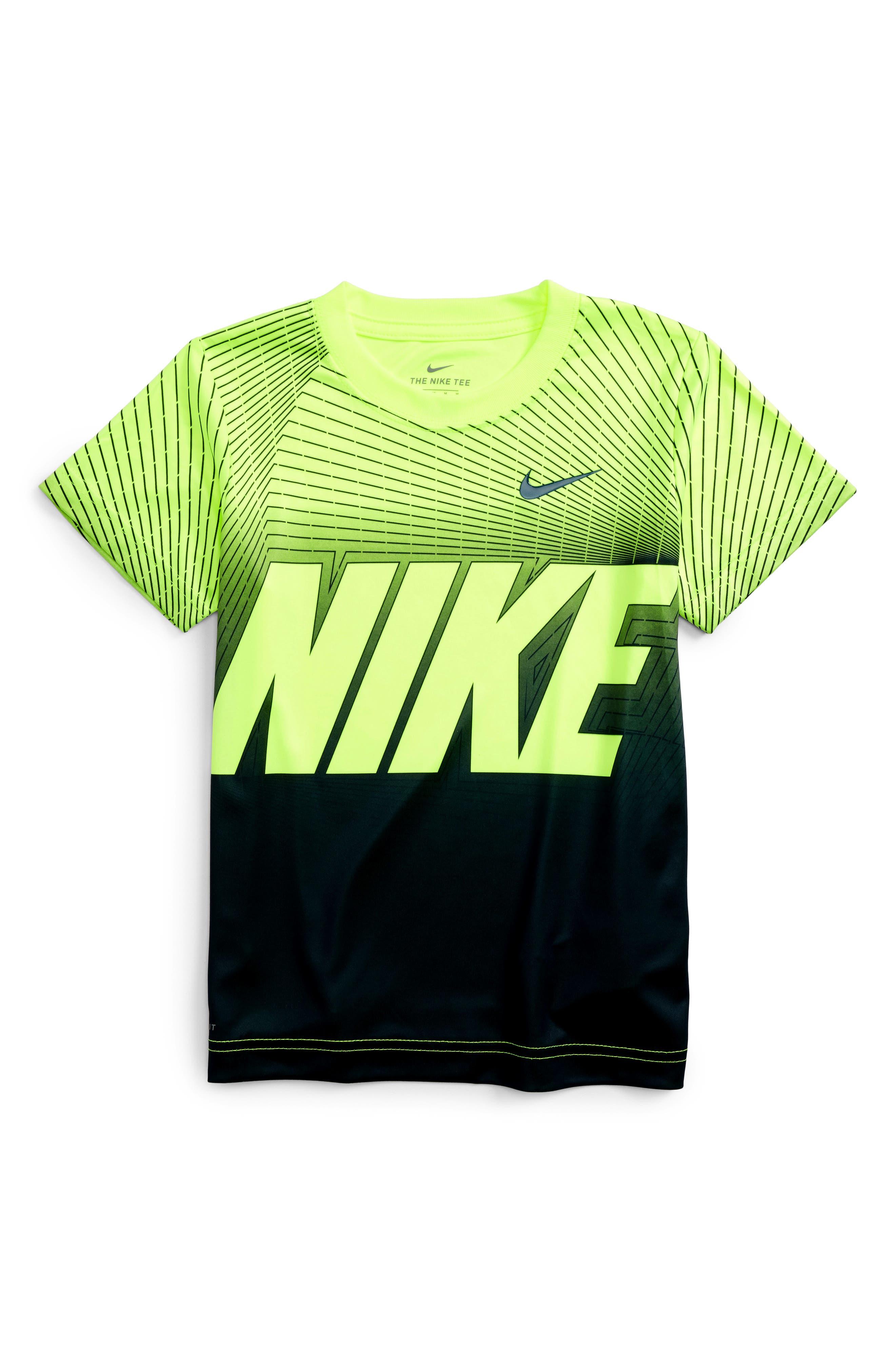 Nike Dry Staggered Line Block T-Shirt (Toddler Boys & Little Boys)