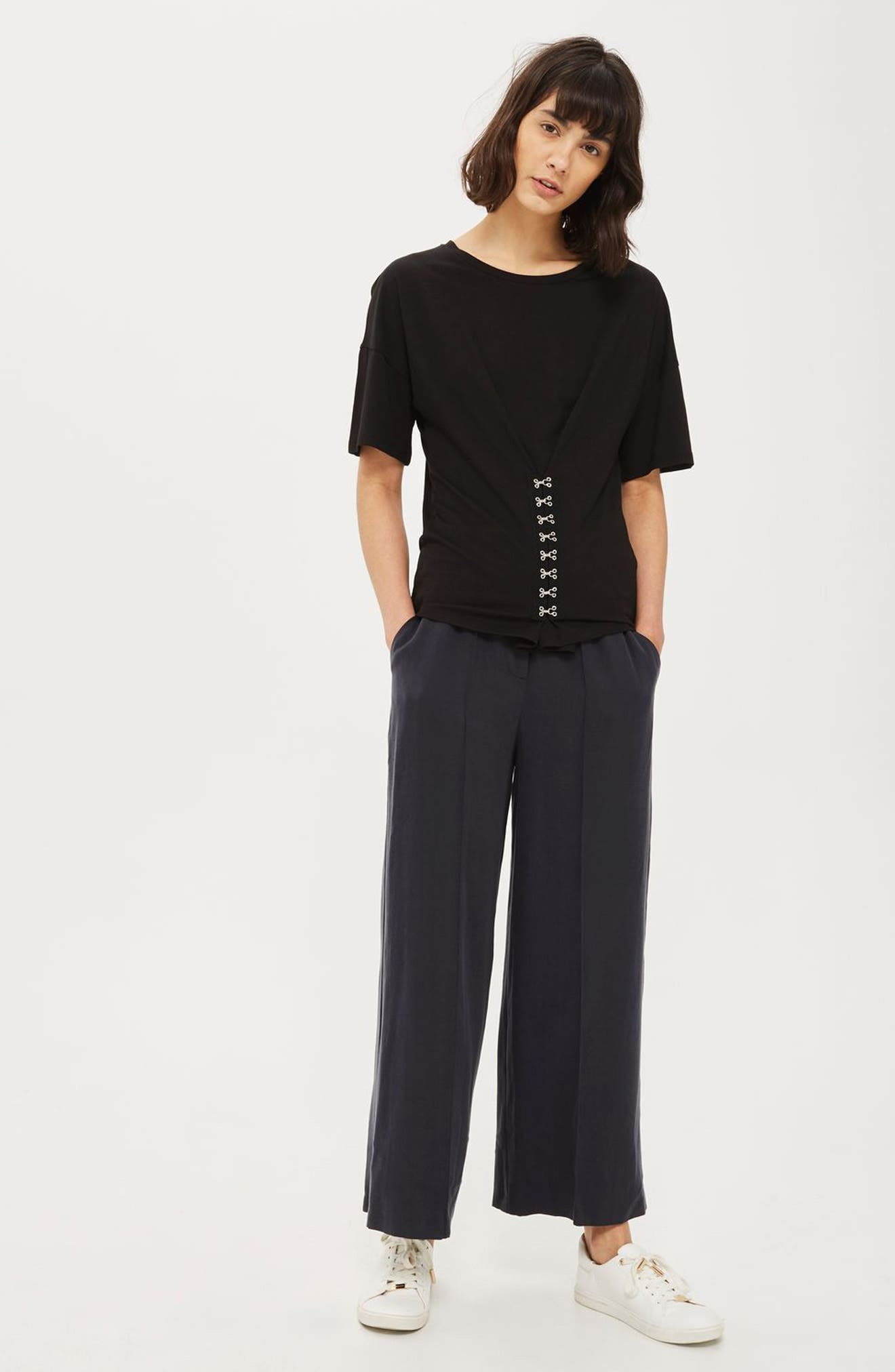 Topshop Tee & Trousers Outfit with Accessories