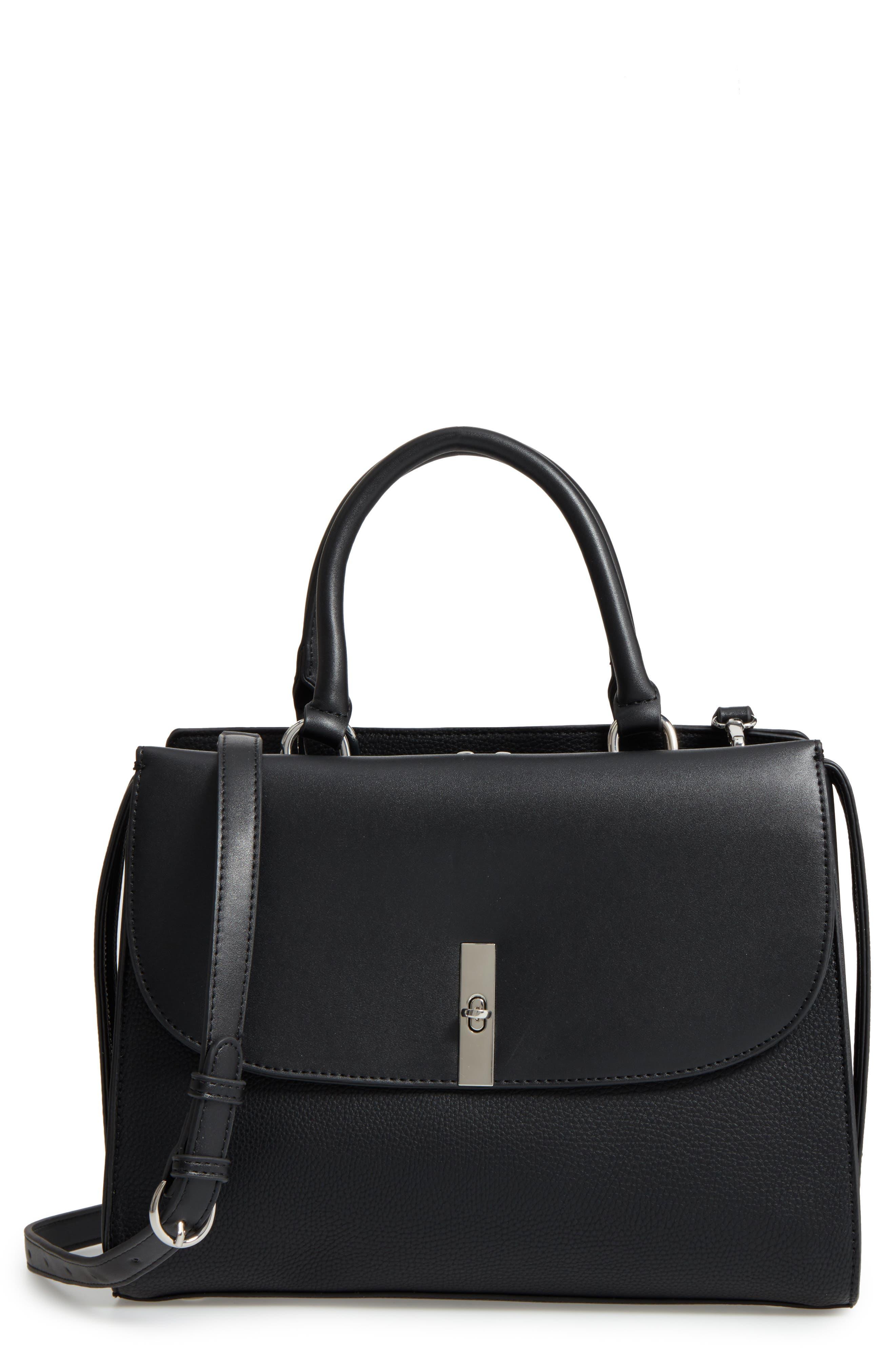 Chelsea28 Morgan Convertible Faux Leather Satchel