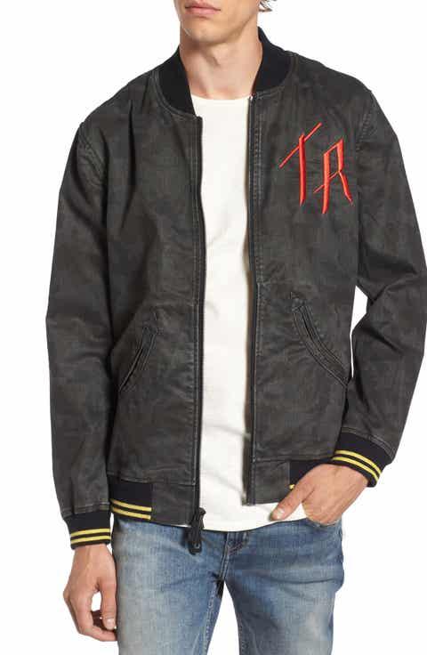True Religion Brand Jeans Denim Bomber Jacket