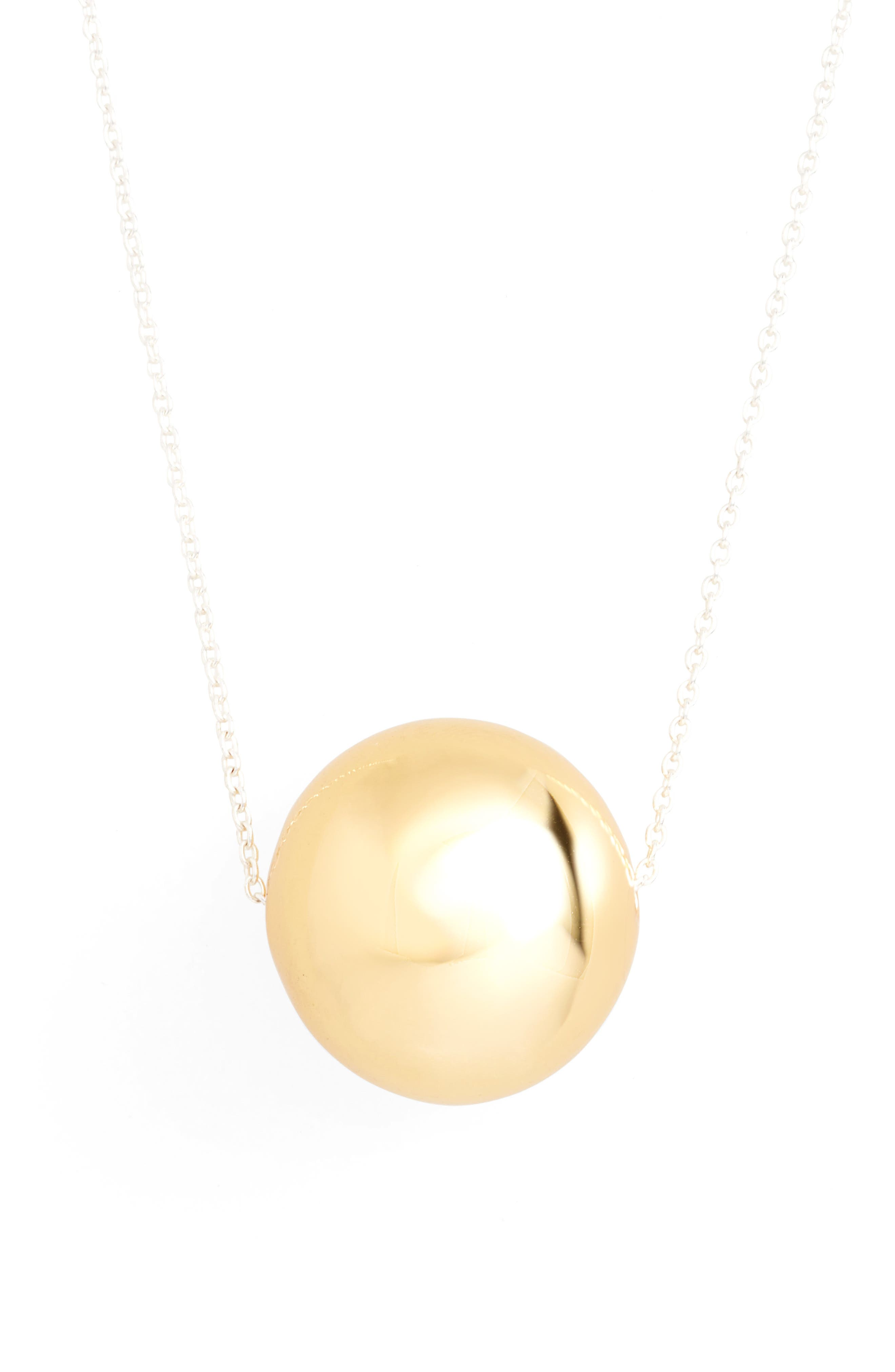 Argento Vivo Large Sphere Pendent Necklace