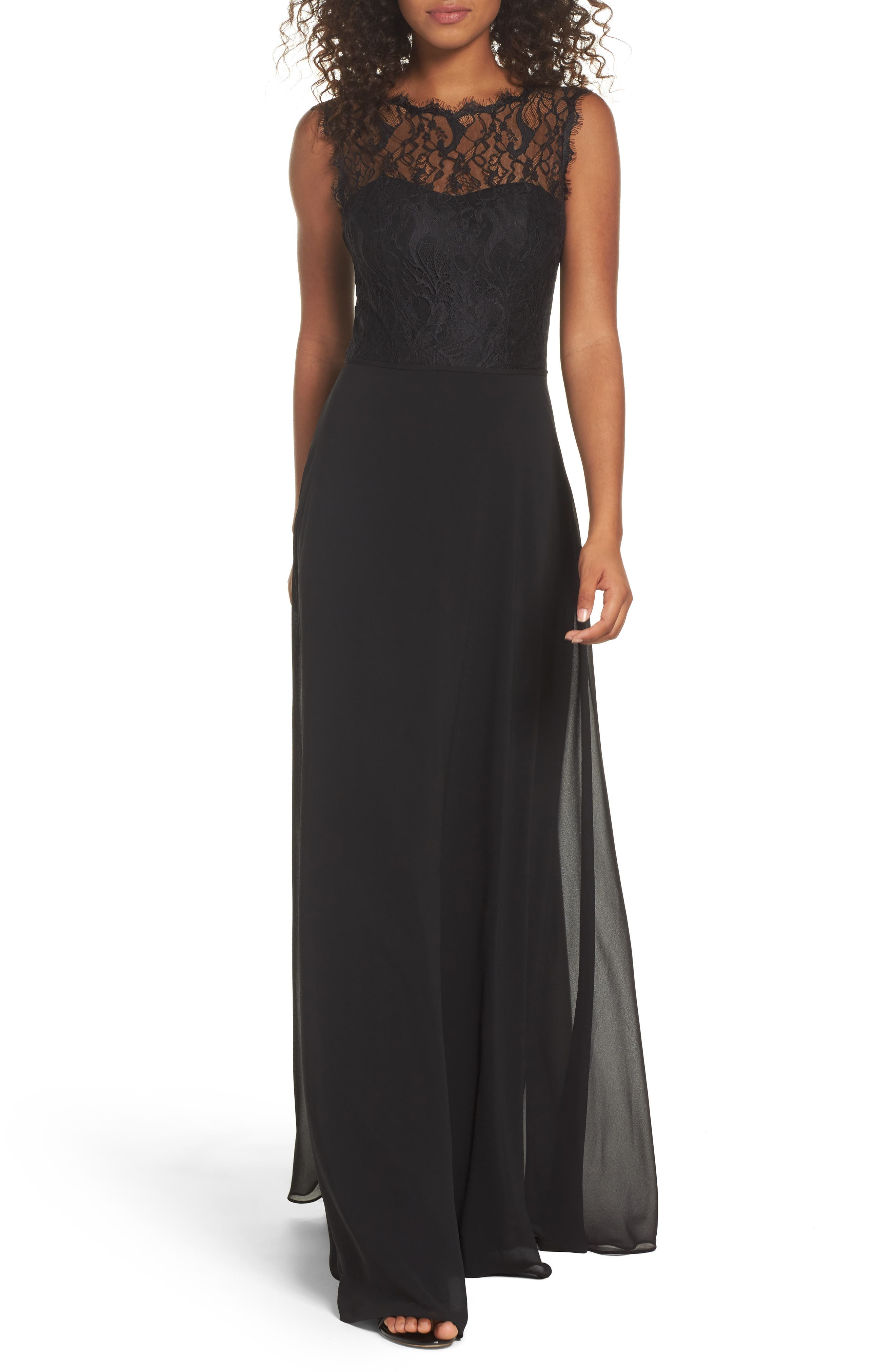 Hayley Paige Occasions Lace & Chiffon A-Line Gown