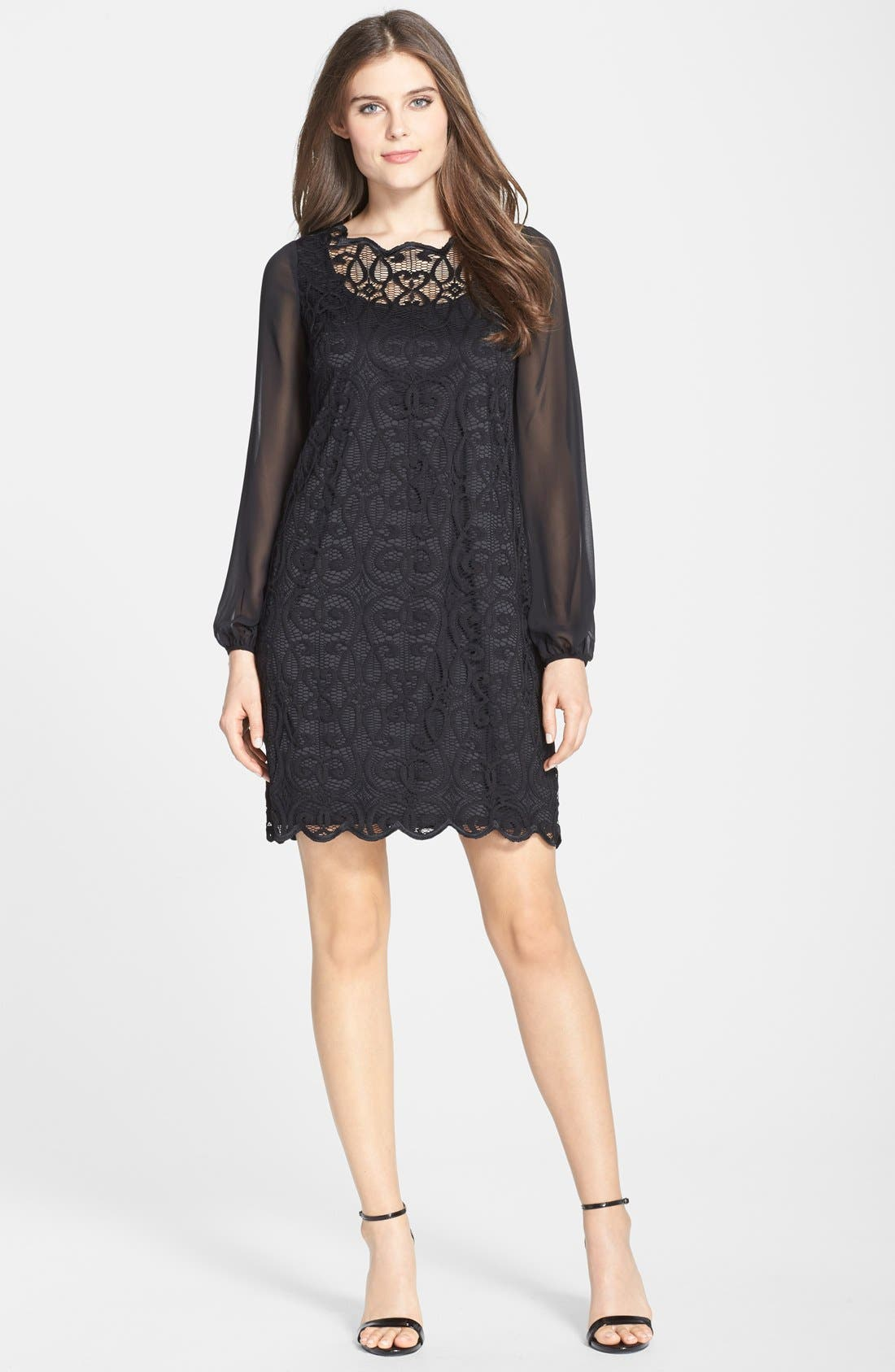 Alternate Image 5  - Adrianna Papell Lace & Chiffon Dress