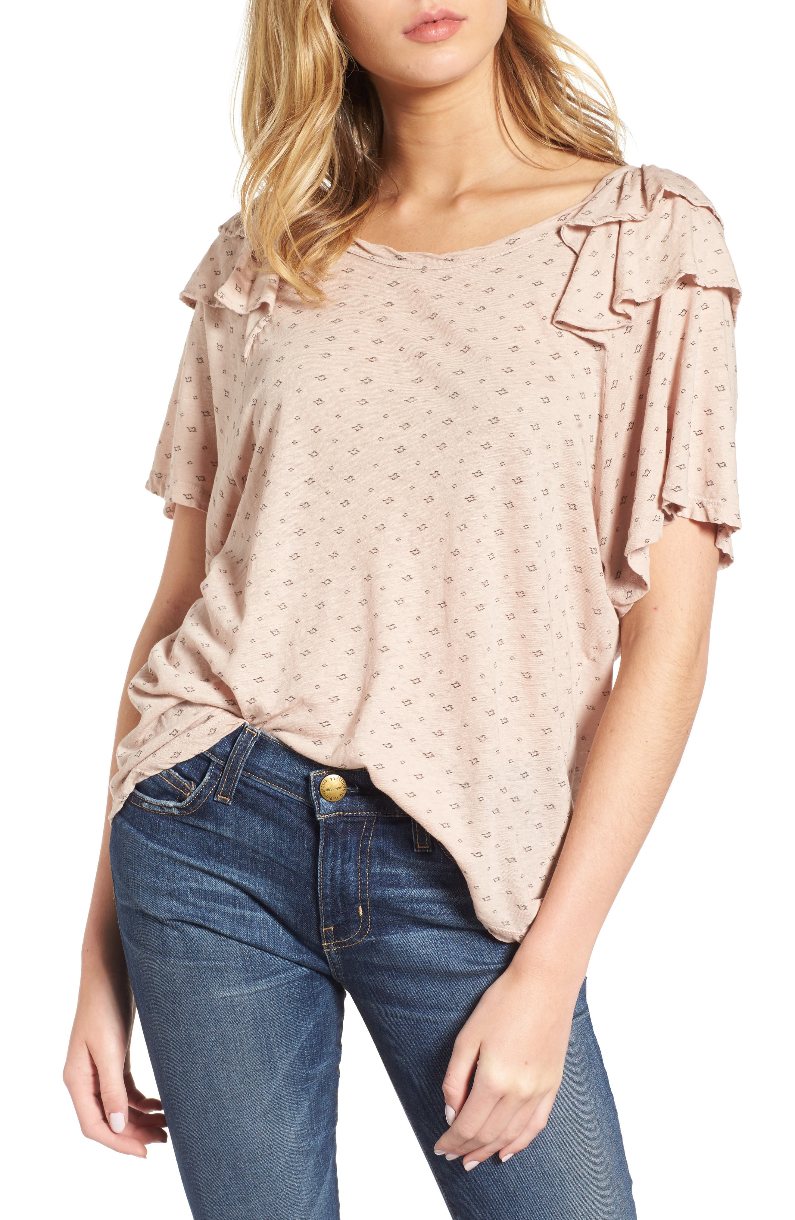 Current/Elliott The Roadie Ruffle Tee