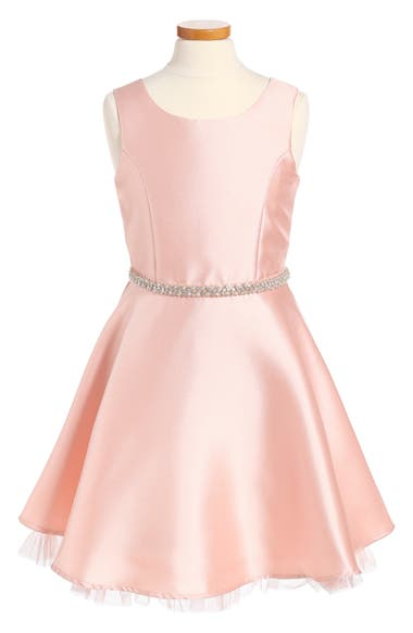 Zunie Jewel Waist Skater Dress (Big Girls)