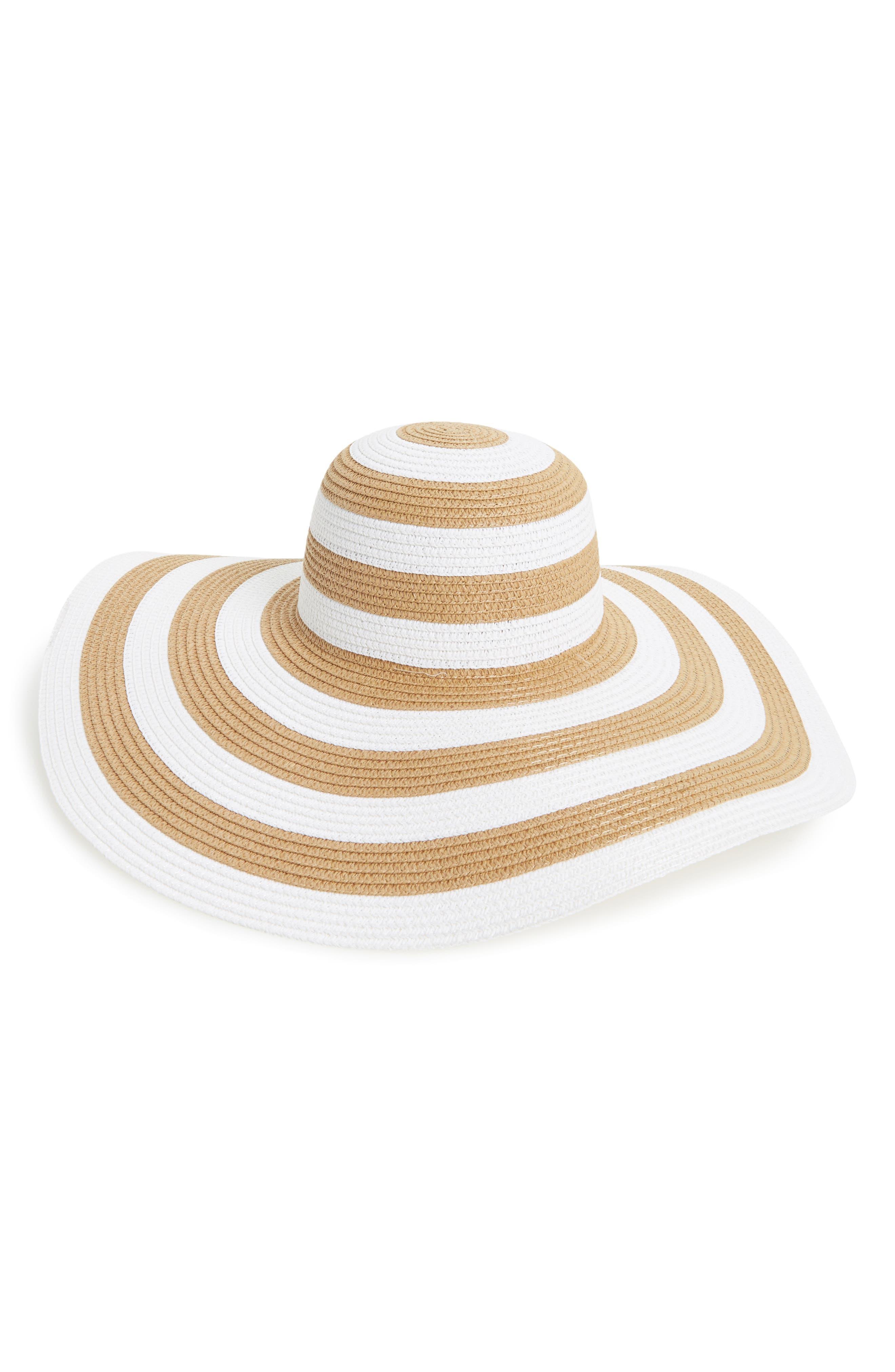 La Double 7 Stripe Floppy Straw Hat