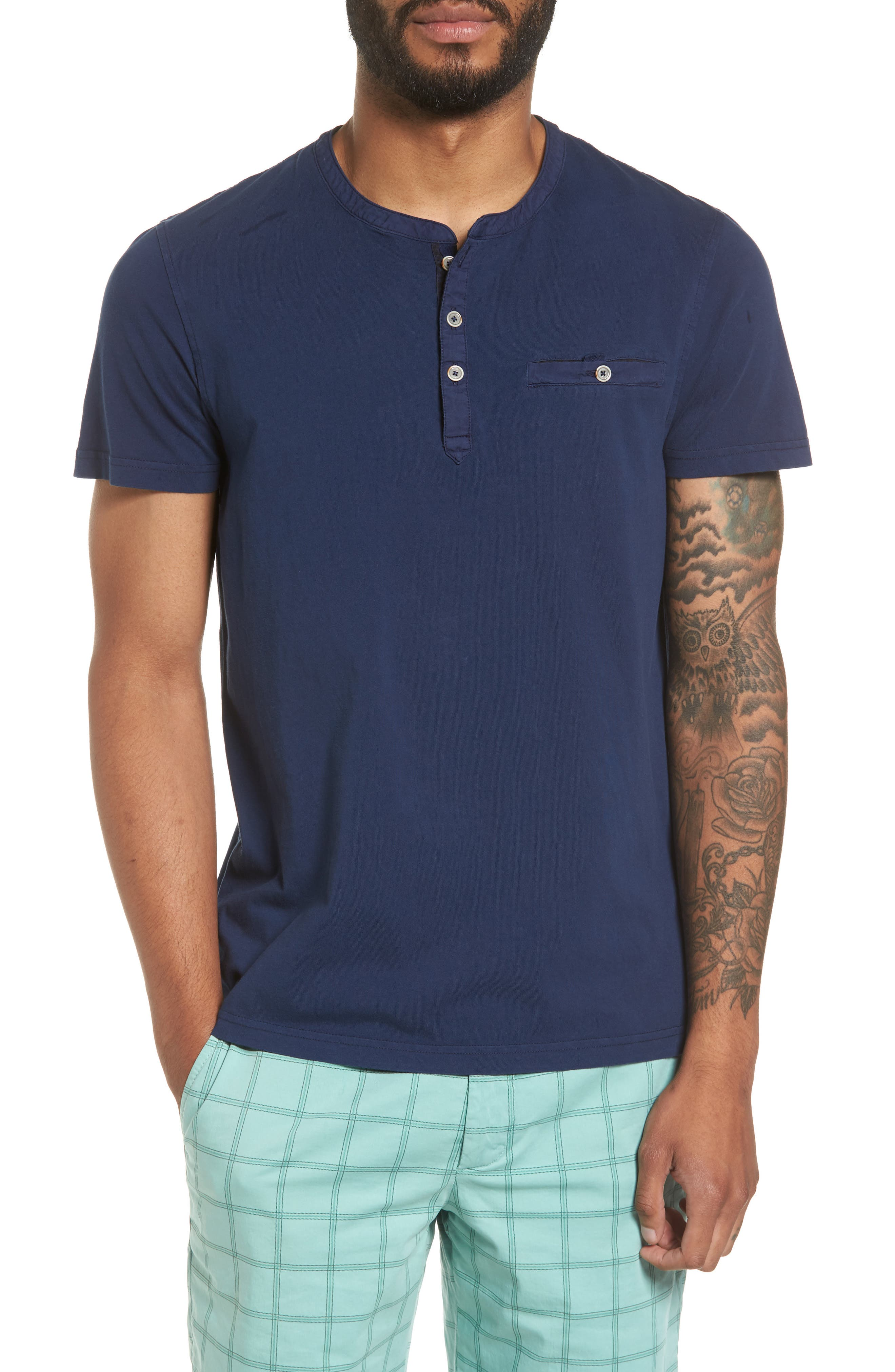 Ted Baker London Arrden Modern Slim Fit Short Sleeve Henley