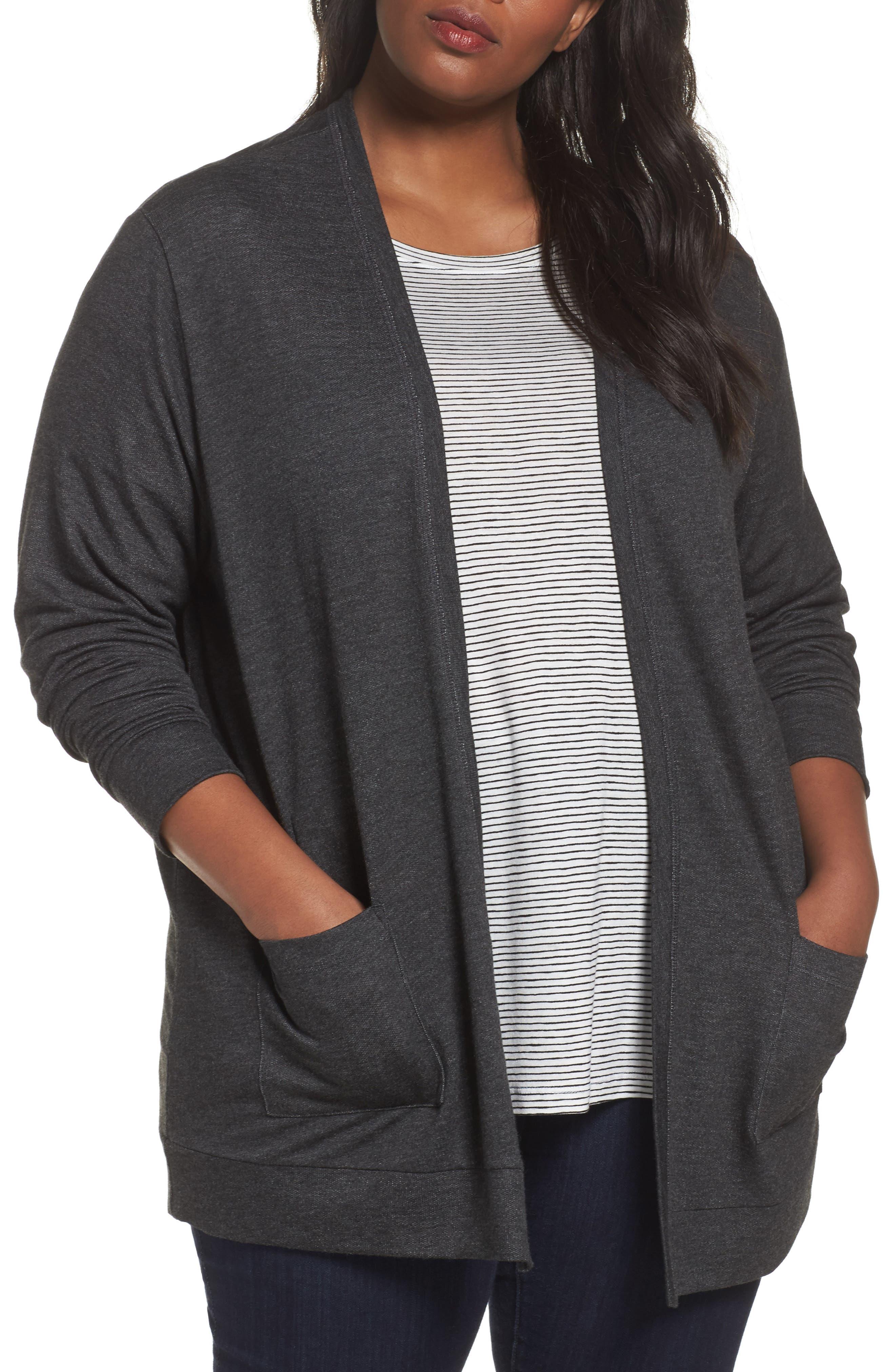 Sejour Open Front Cardigan (Plus Size)