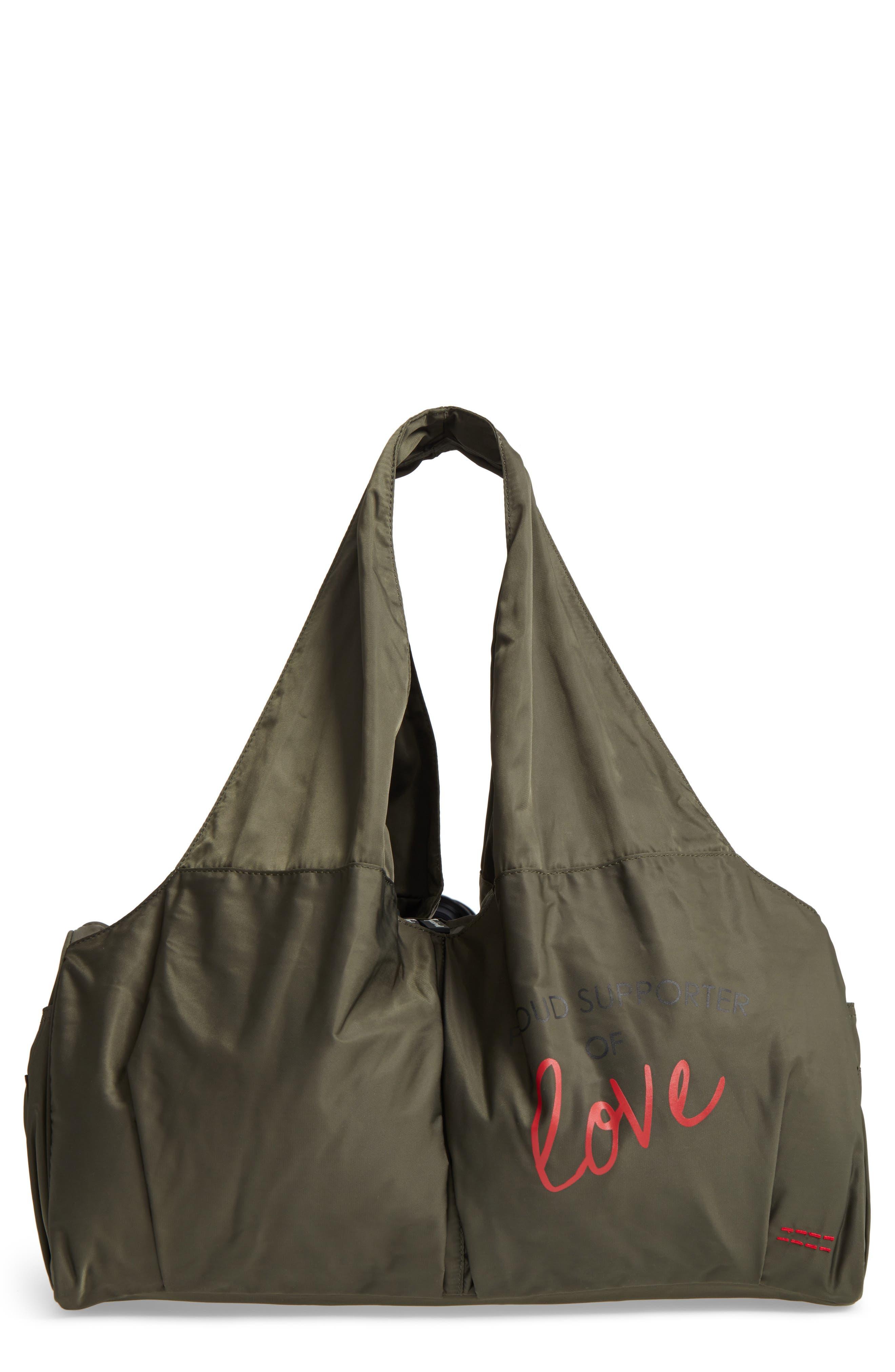 Peace Love World Nylon Duffel Bag