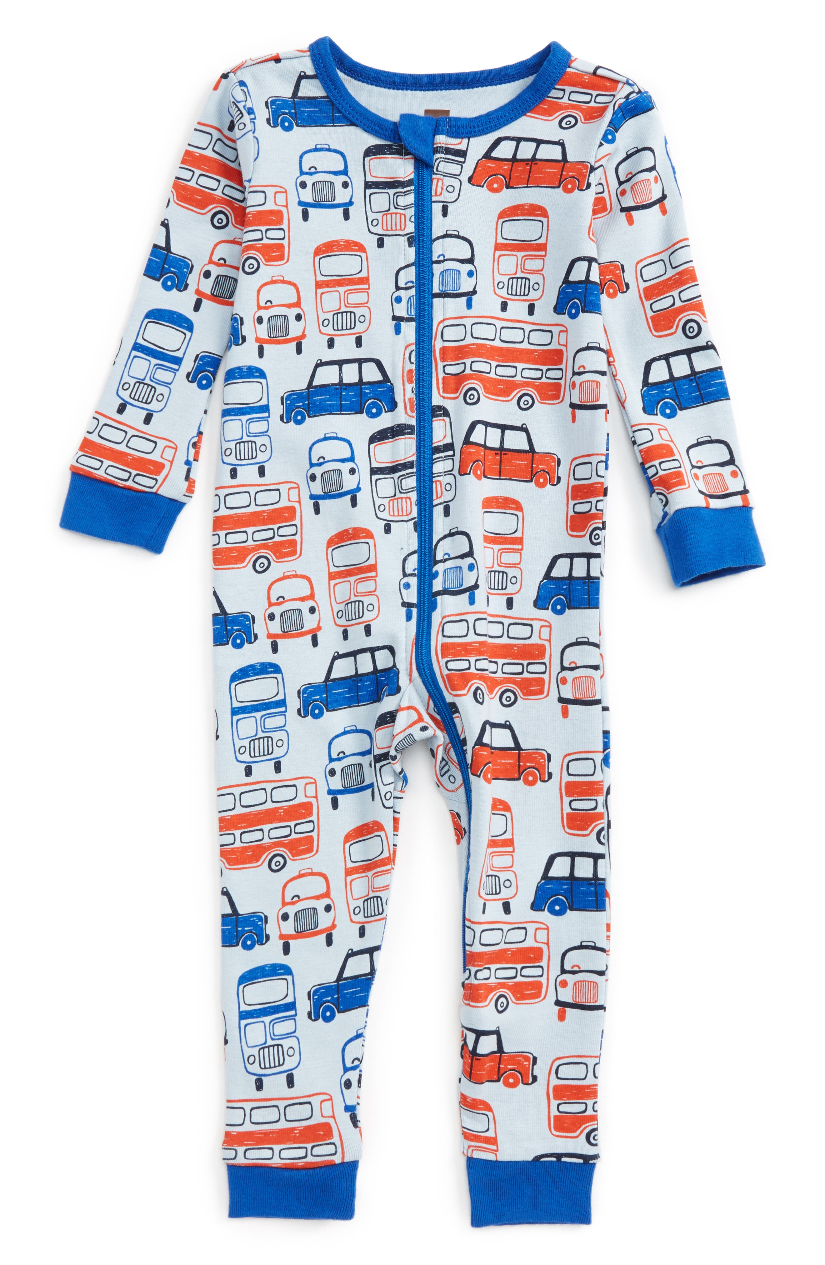 Tea Collection Waverley Station Fitted One-Piece Pajamas (Baby Boys)