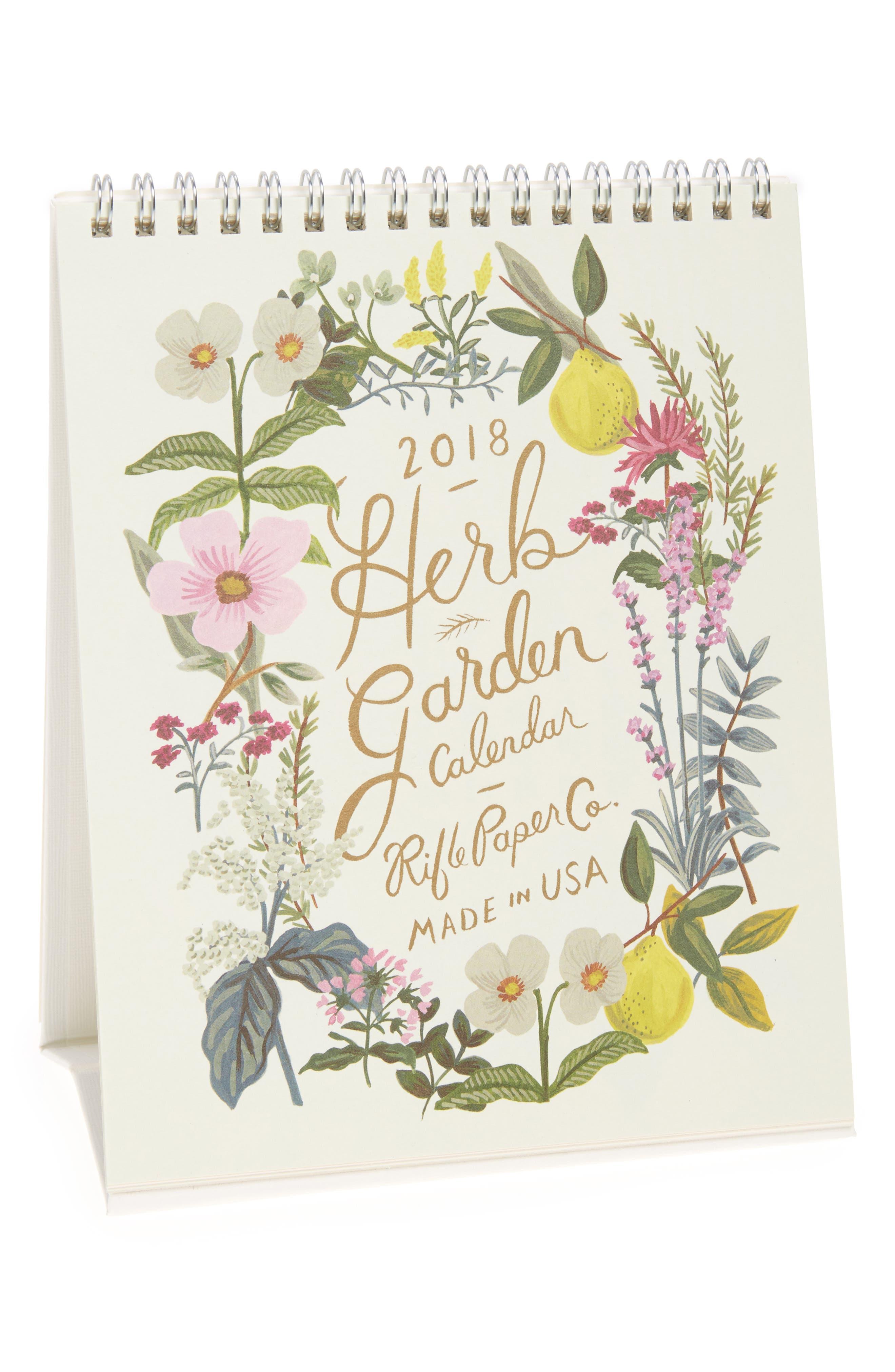 Rifle Paper Co. Herb Garden 2018 Desk Calendar