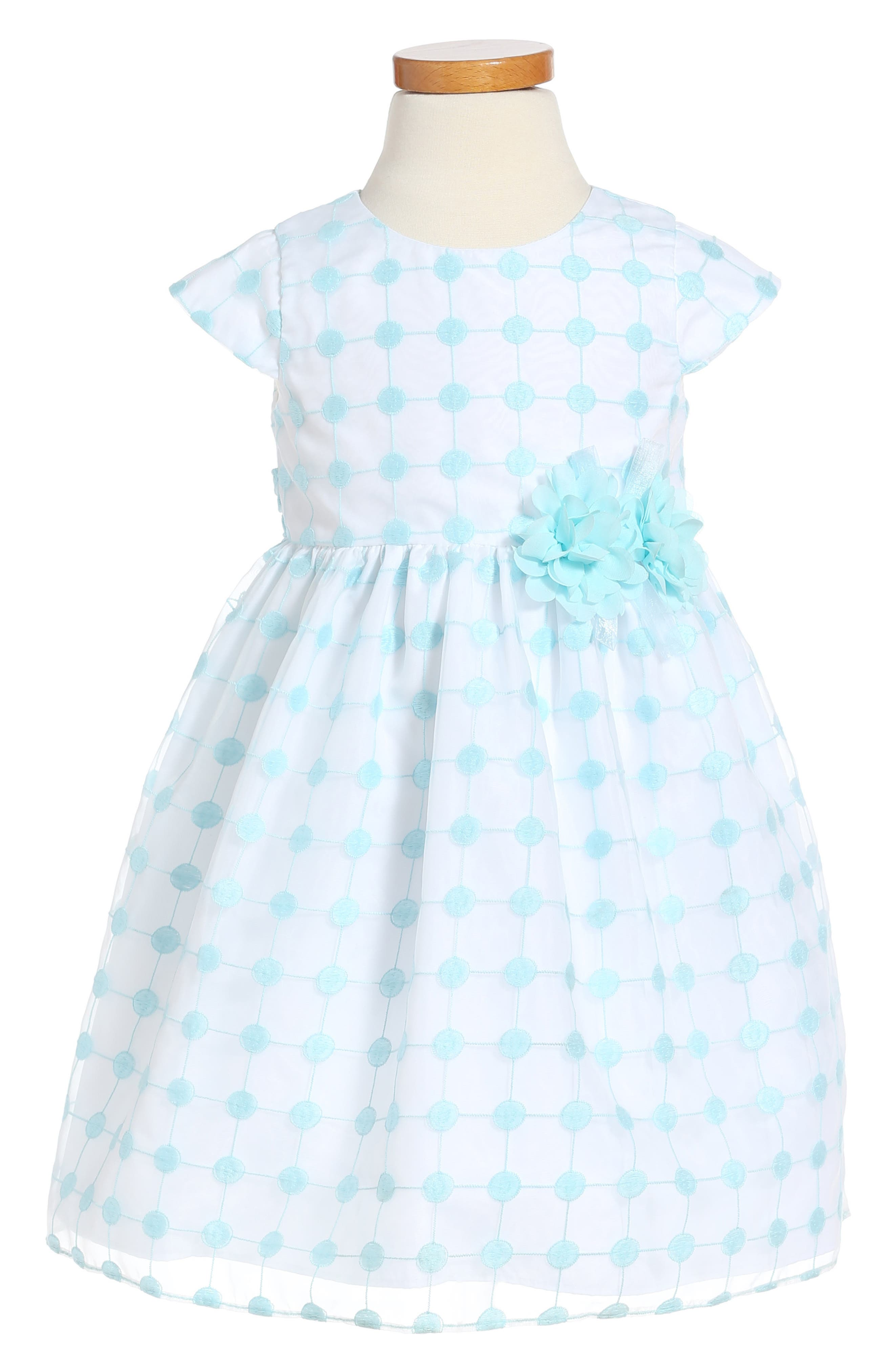 Pippa & Julie Embroidered Mesh Dress (Toddler Girls)