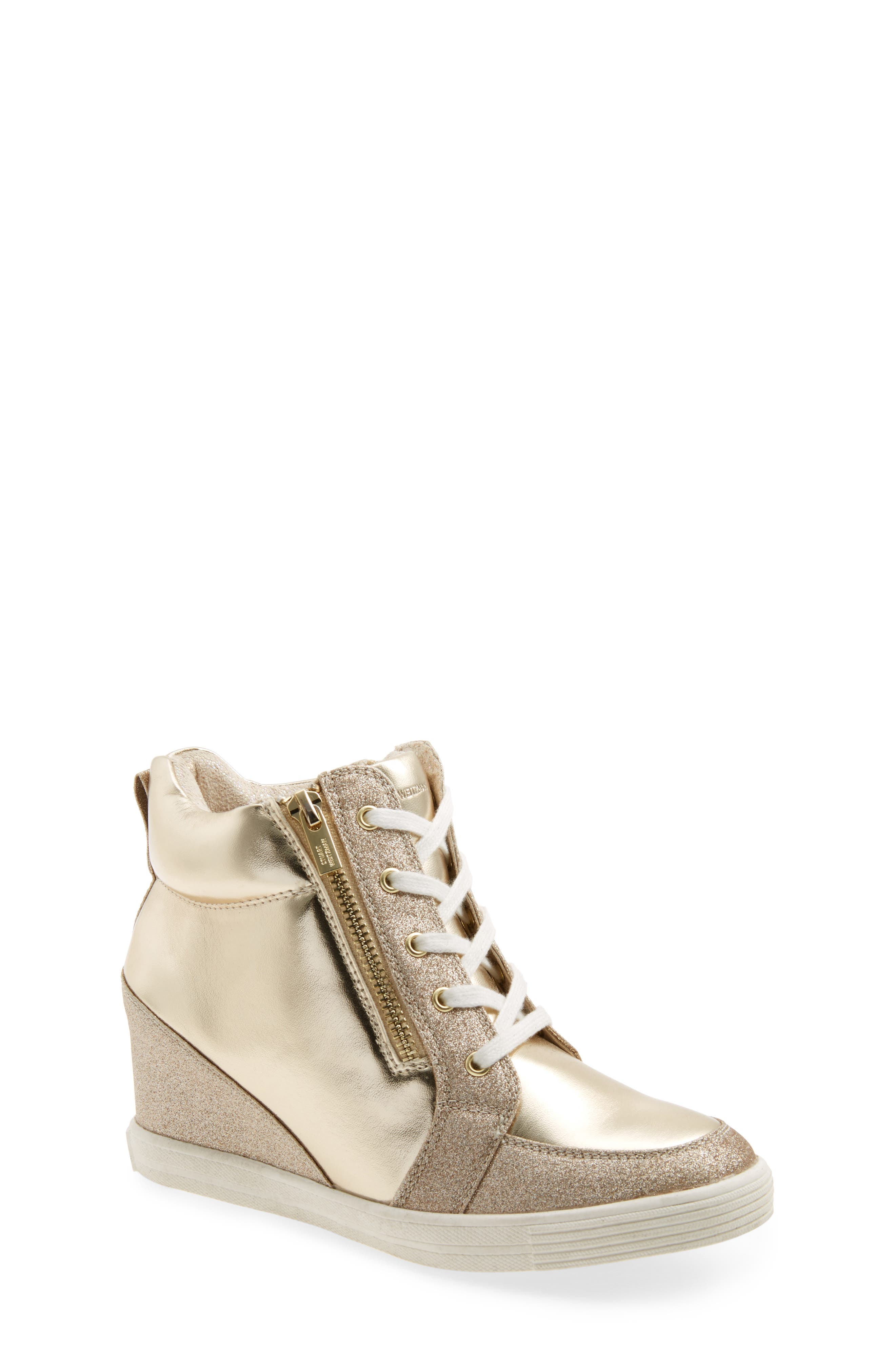 Stuart Weitzman Vance High Top Wedge Sneaker (Toddler, Little Kid & Big Kid))