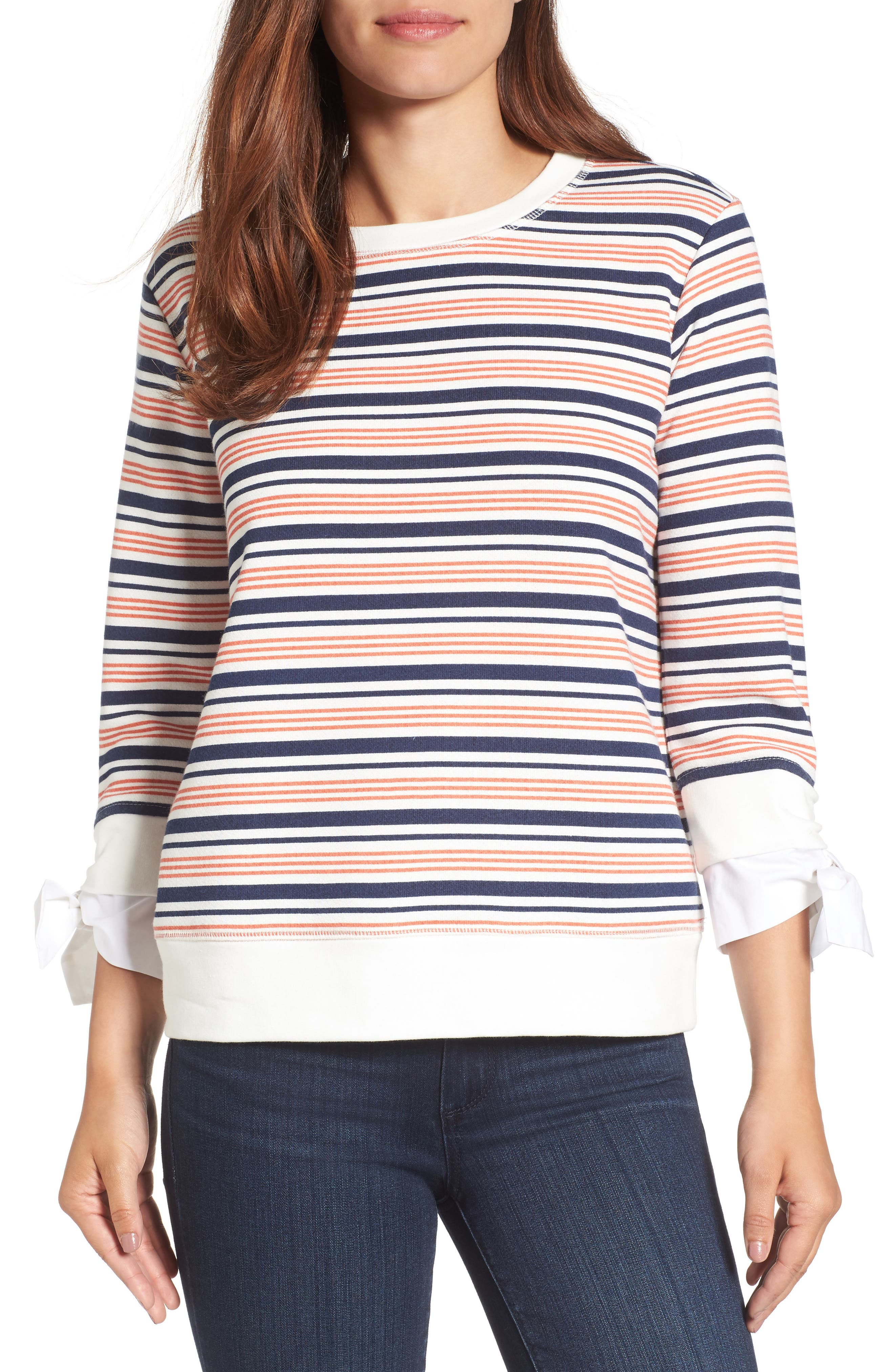 Gibson Tie Sleeve Sweatshirt (Regular & Petite)