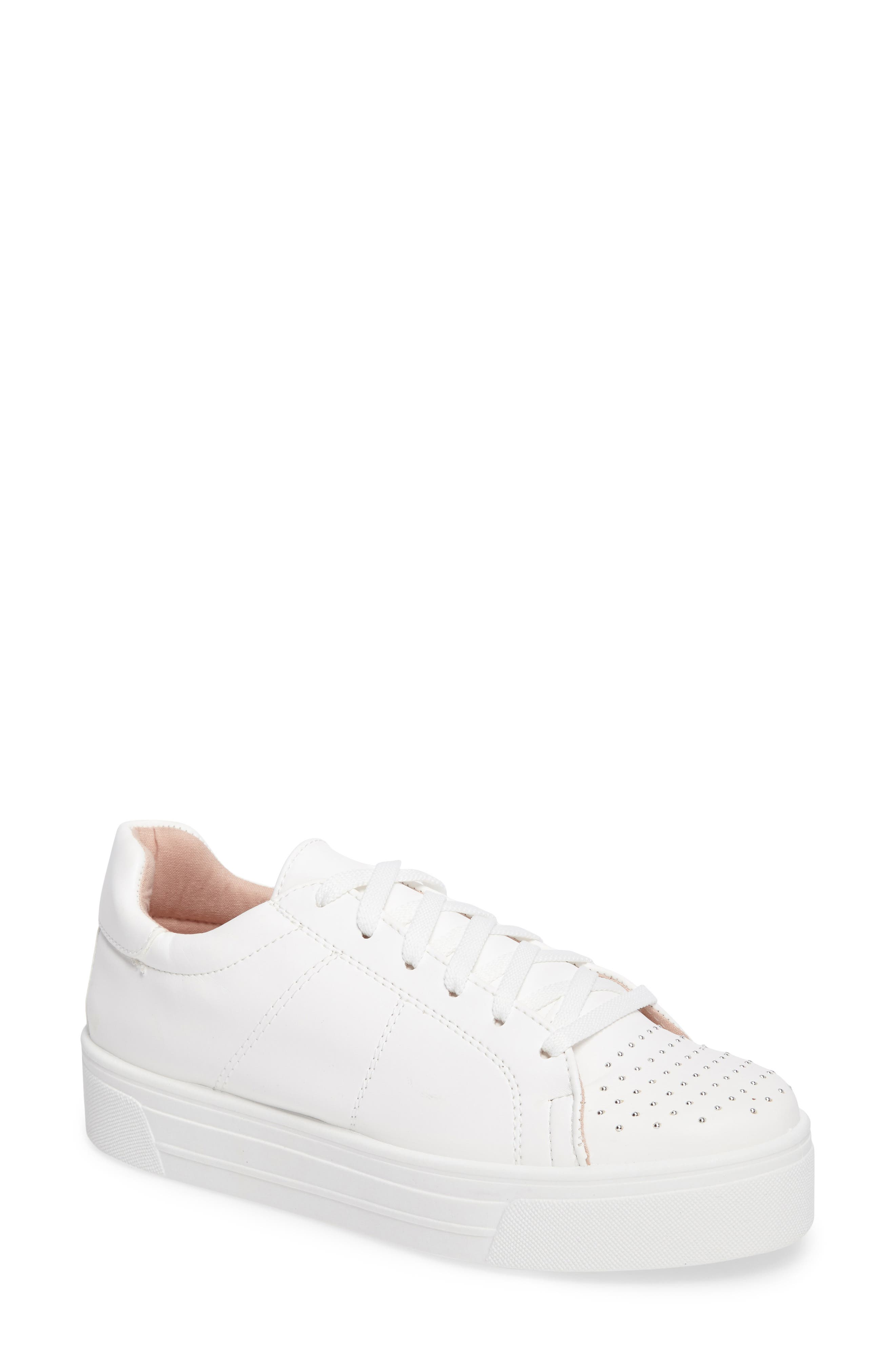 Topshop Cortex Studded Flatform Sneaker (Women)