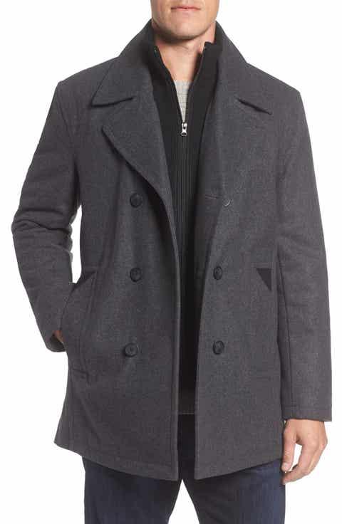 grey pea coat   Nordstrom